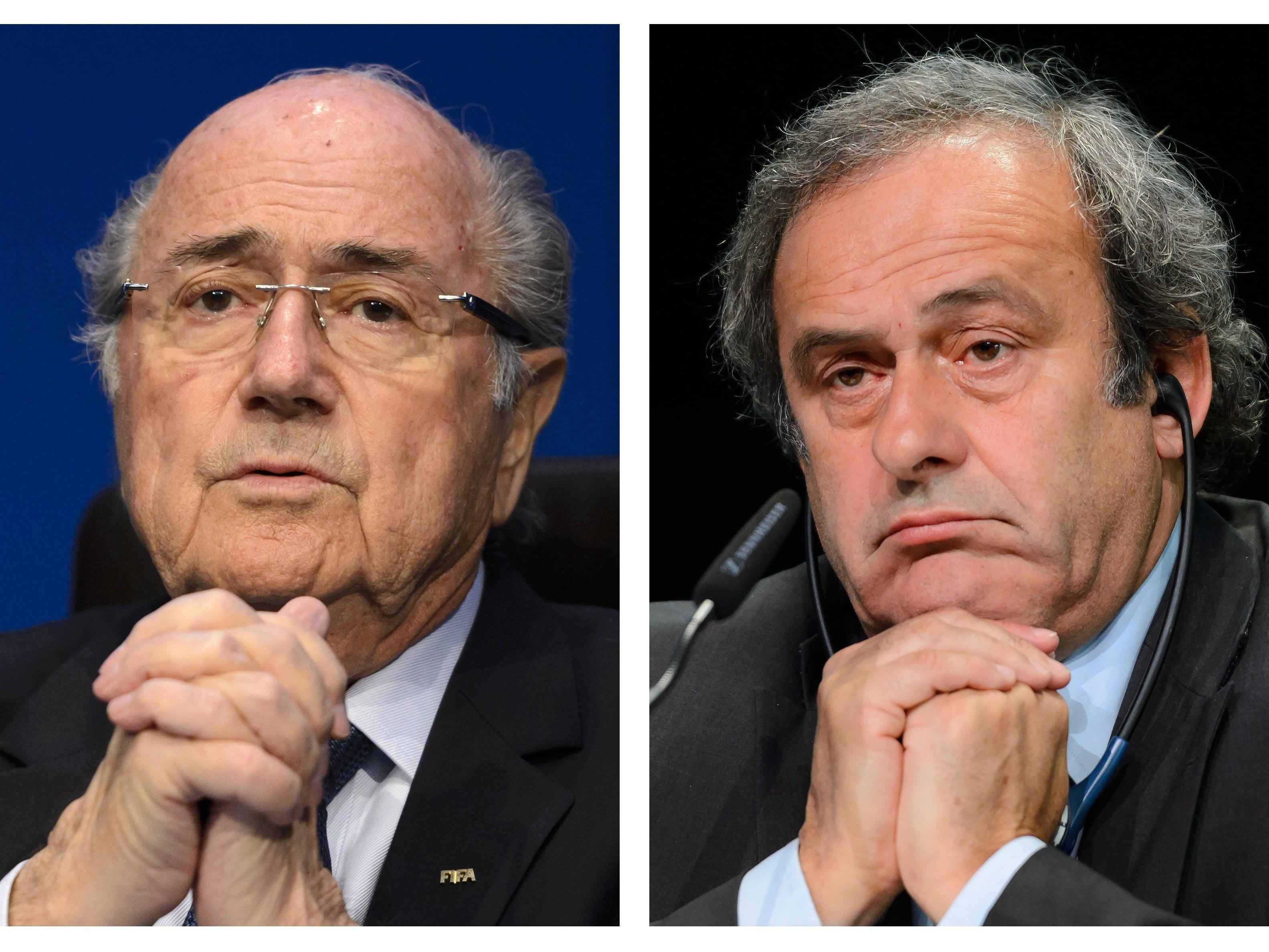 Hammer-Urteil der FIFA-Ethikkommission: Sepp Blatter und Michel Platini fassen acht Jahre Sperre aus.