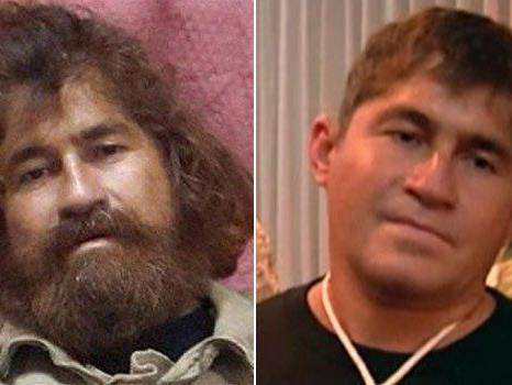 Kaum wiederzuerkennen: Alvarenga links nach seiner Rettung, rechts vor seinem Heimflug nach Mexiko.