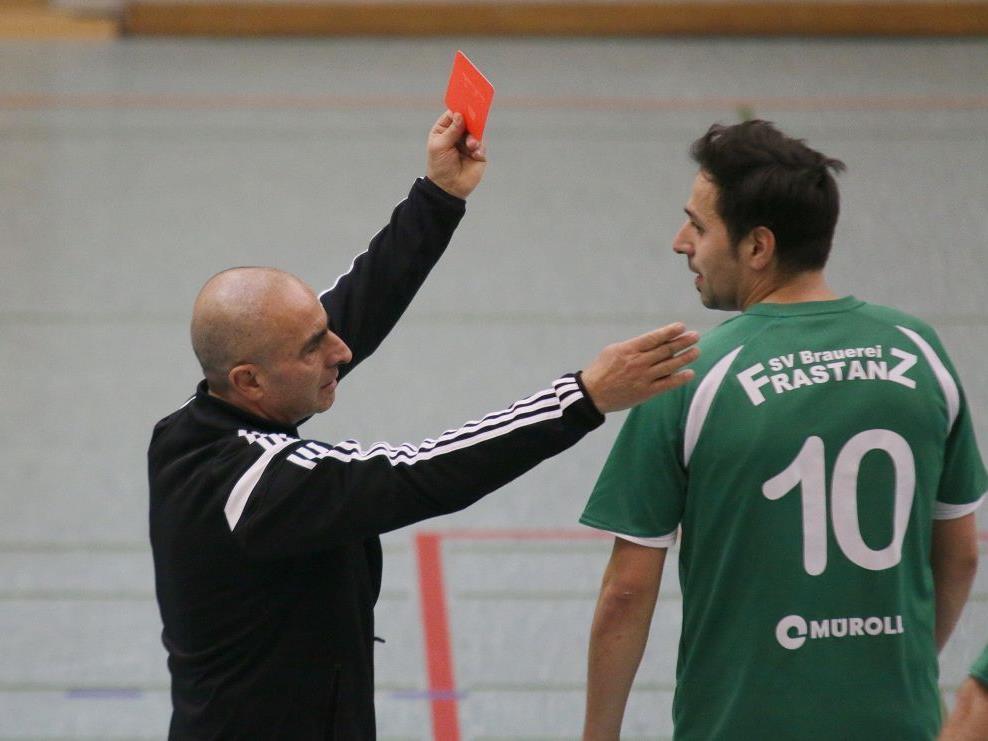 Frastanz Spieler Aksu erhielt die Rote Karte