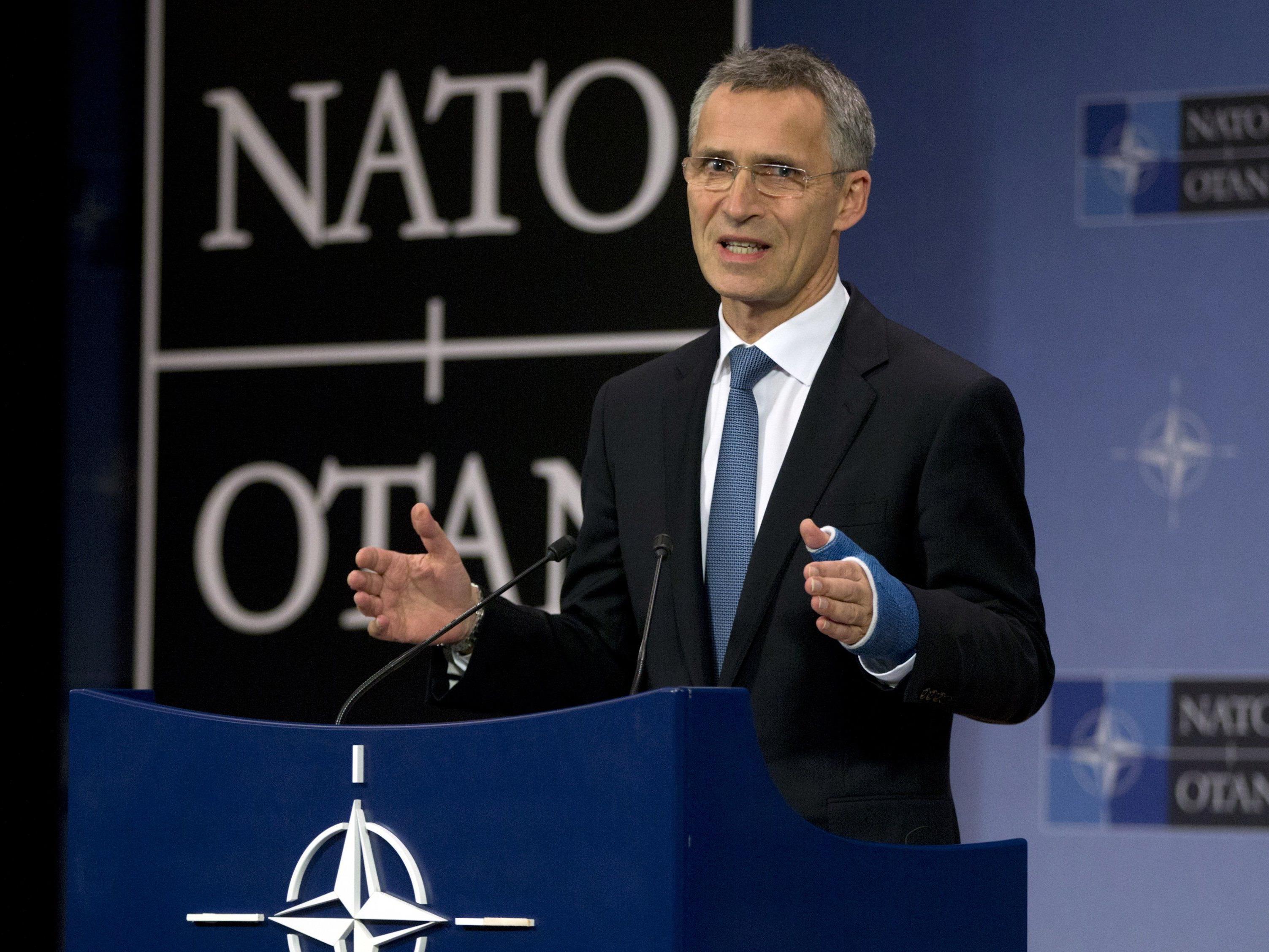 Die Nato-Außenminister berieten über die Einladung an Monetenegro, Nato-Generalsekretär Jens Stoltenberg sprach sie aus.