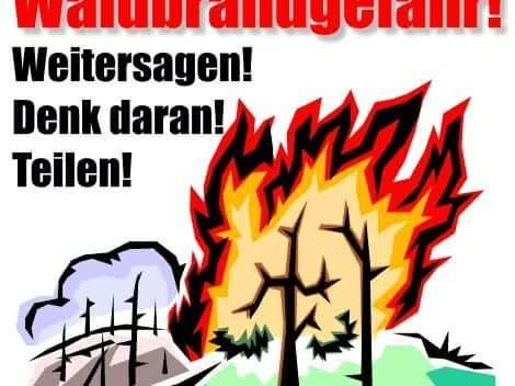 Bitte lassen sie auf Grund der extremen Trockenheit beim Umgang mit offenem Feuer und Silvesterraketen besondere Vorsicht walten.