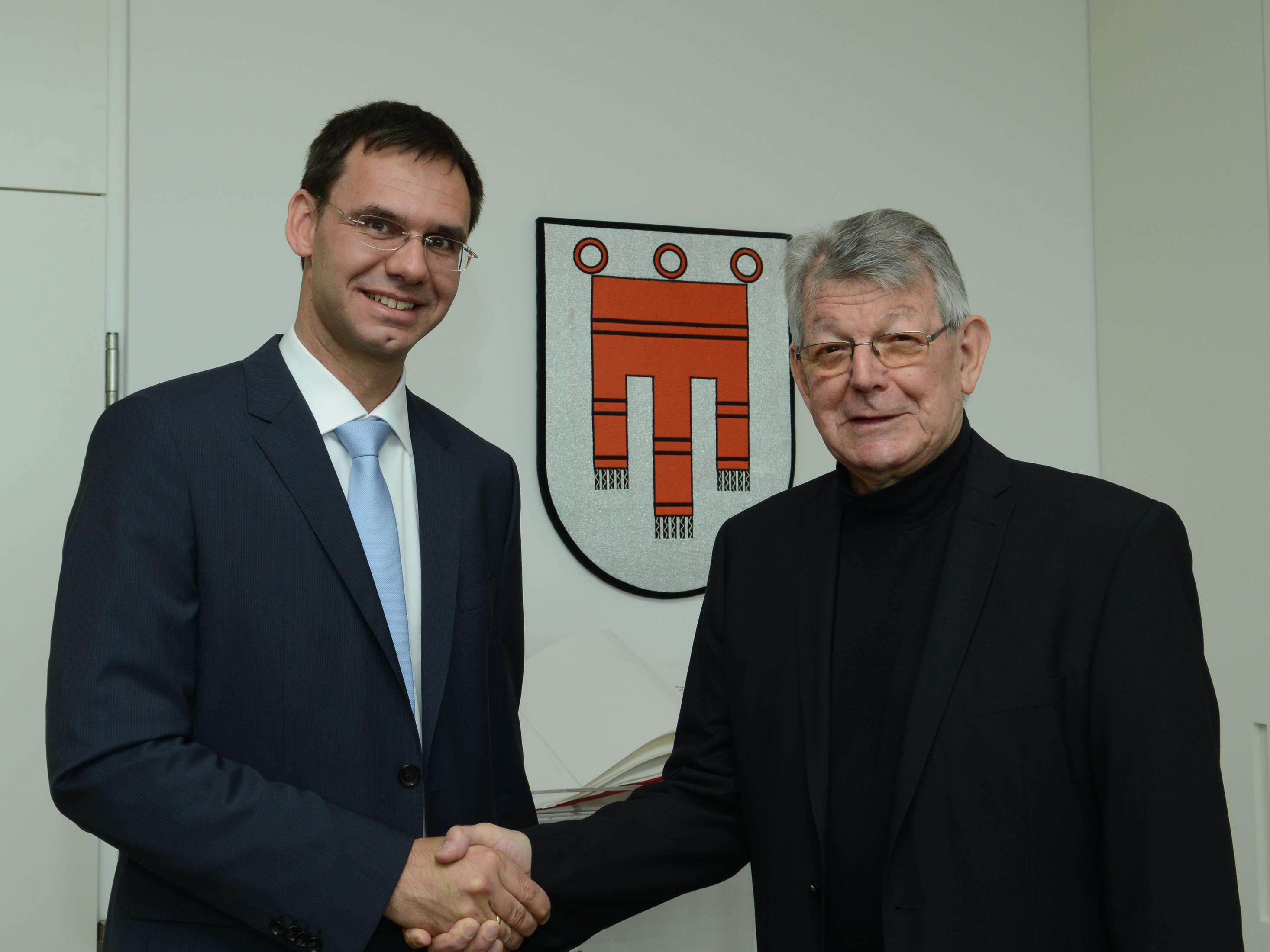 Im Mai 2013 besuchte Bischof Erwin Kräutler Landeshauptmann Markus Wallner im Landhaus in Bregenz.