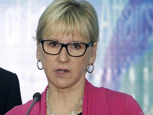 Außenministerin Wallström will die Wehrpflicht