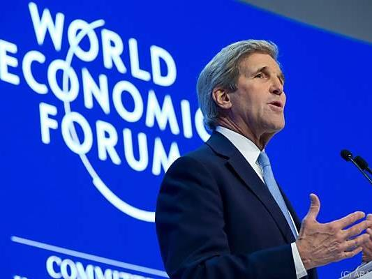 US-Außenminister John Kerry in Davos