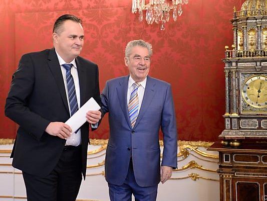 Doskozil wieder bei Bundespräsident Fischer