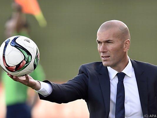 Zidane war bisher Trainer der Reservemannschaft
