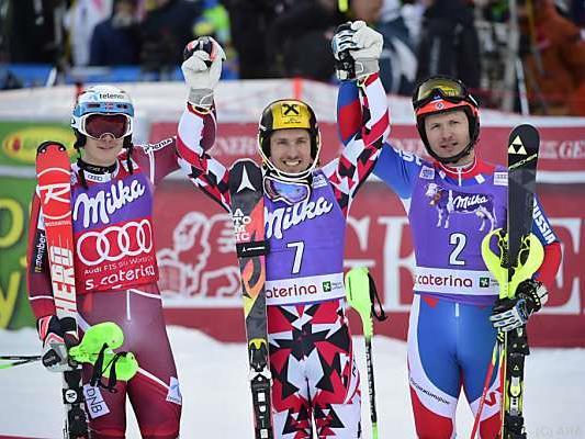 Slalom-Sieg für Hirscher vor Kristoffersen und Choroschilow