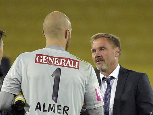 Almer mit Austria-Trainer Fink.