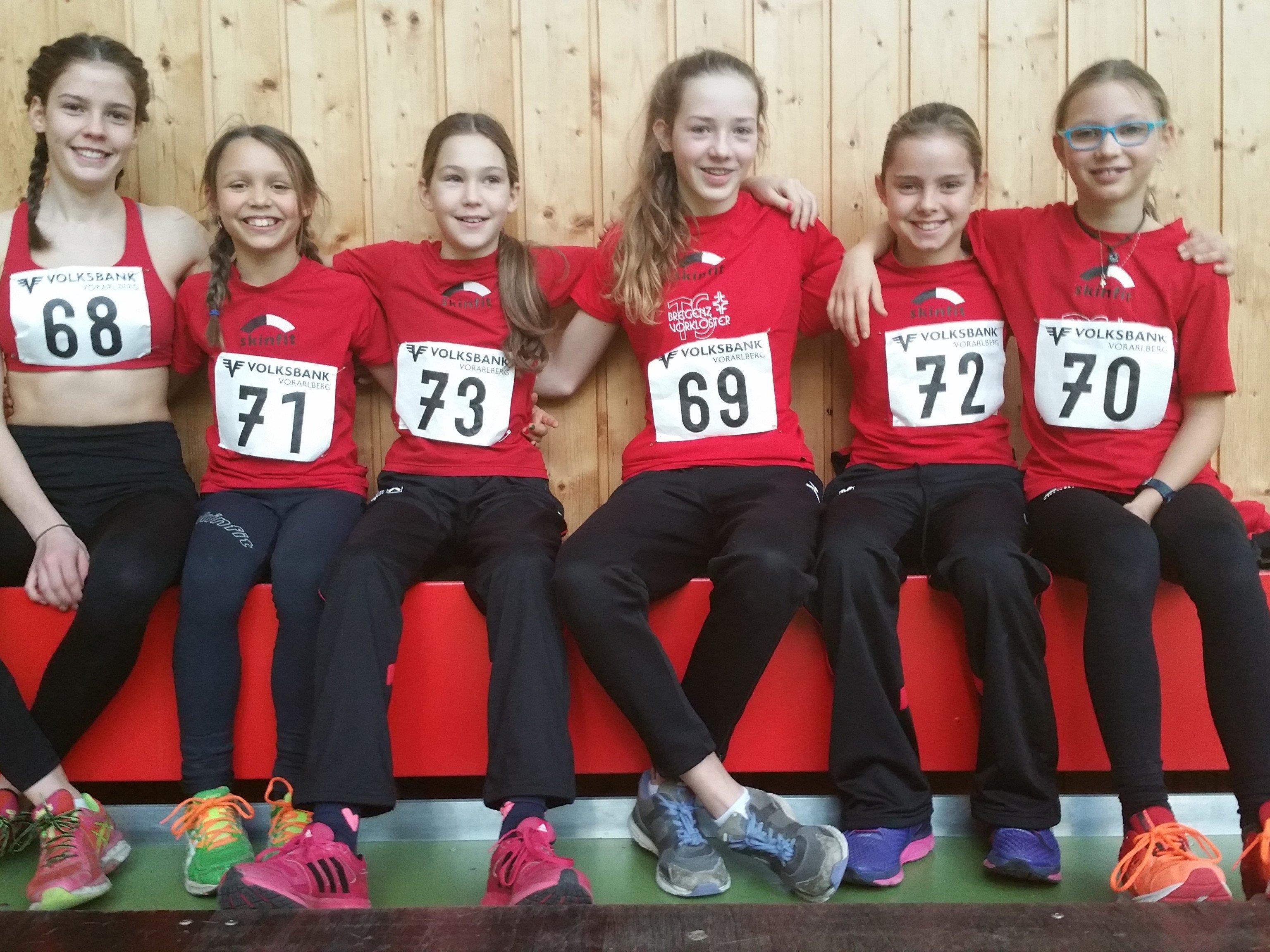 Die Teilnehmer der TS Bregenz-Vorkloster an den Vorarlberger Nachwuchs-Mehrkampfmeisterschaften.