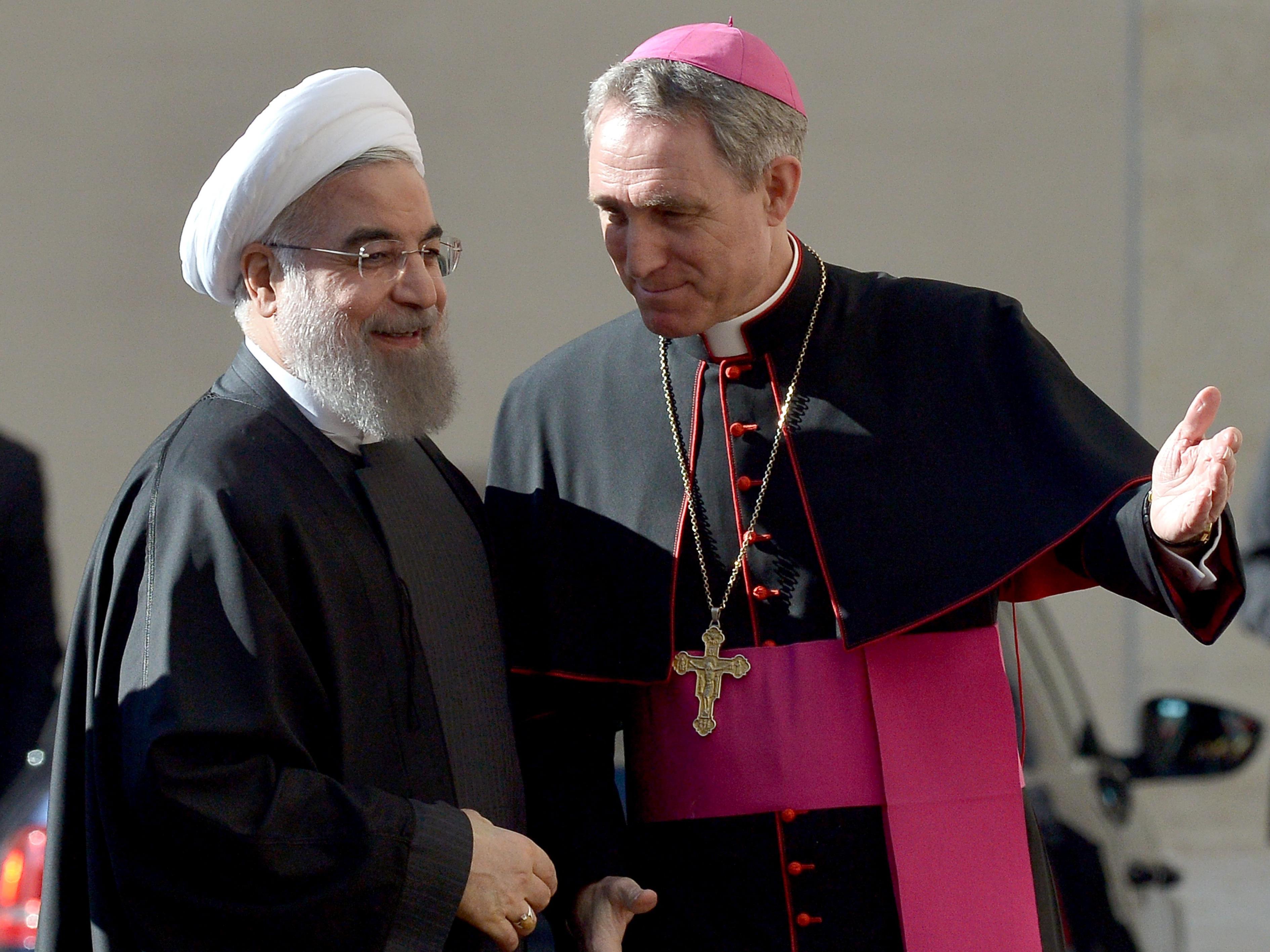 Rücksicht auf iranischen Präsidenten: Keine nackten Statuen, kein Wein beim Abendessen.