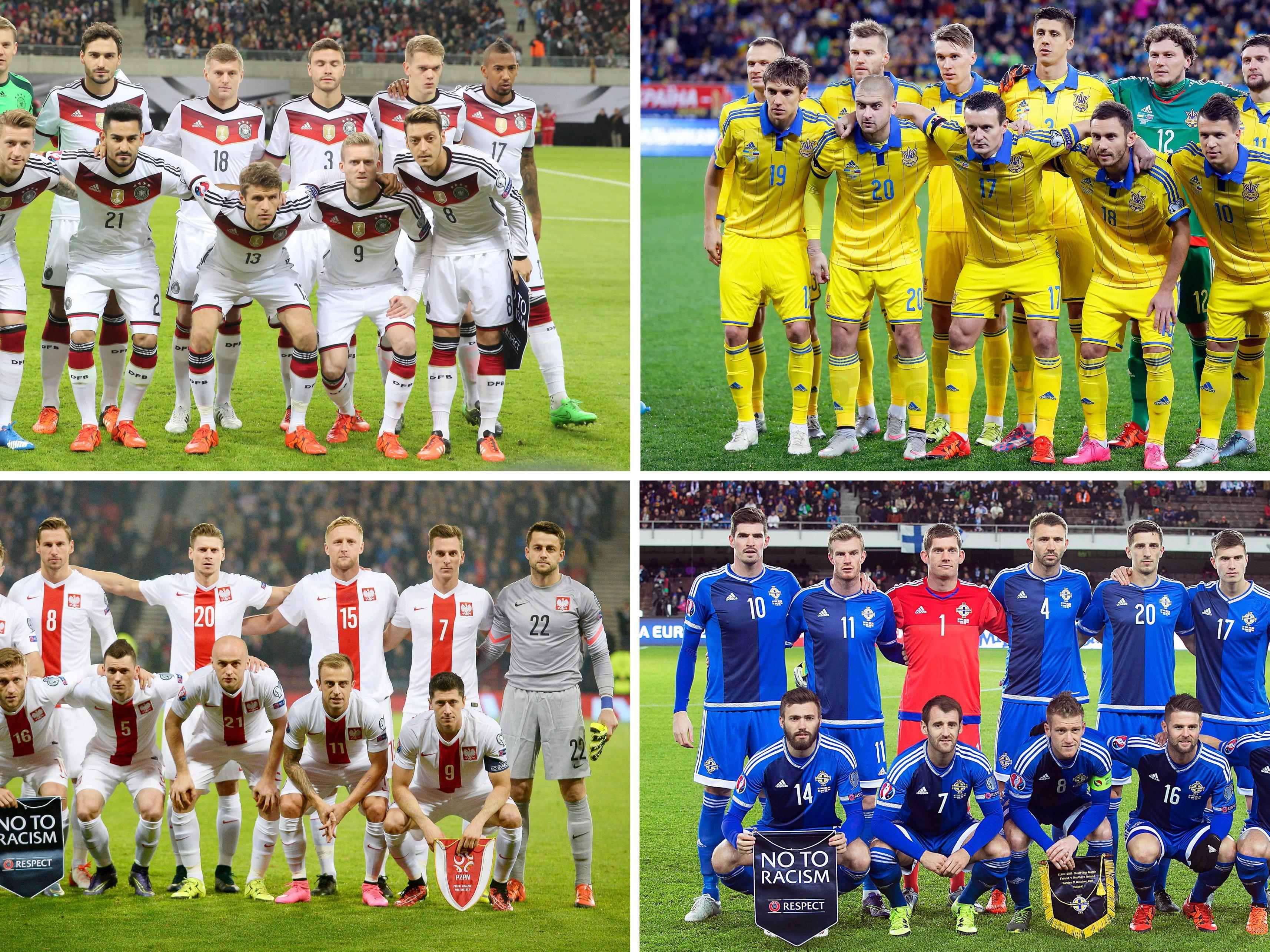 Die Gruppe C der Fußball-EM 2016 in Frankreich.