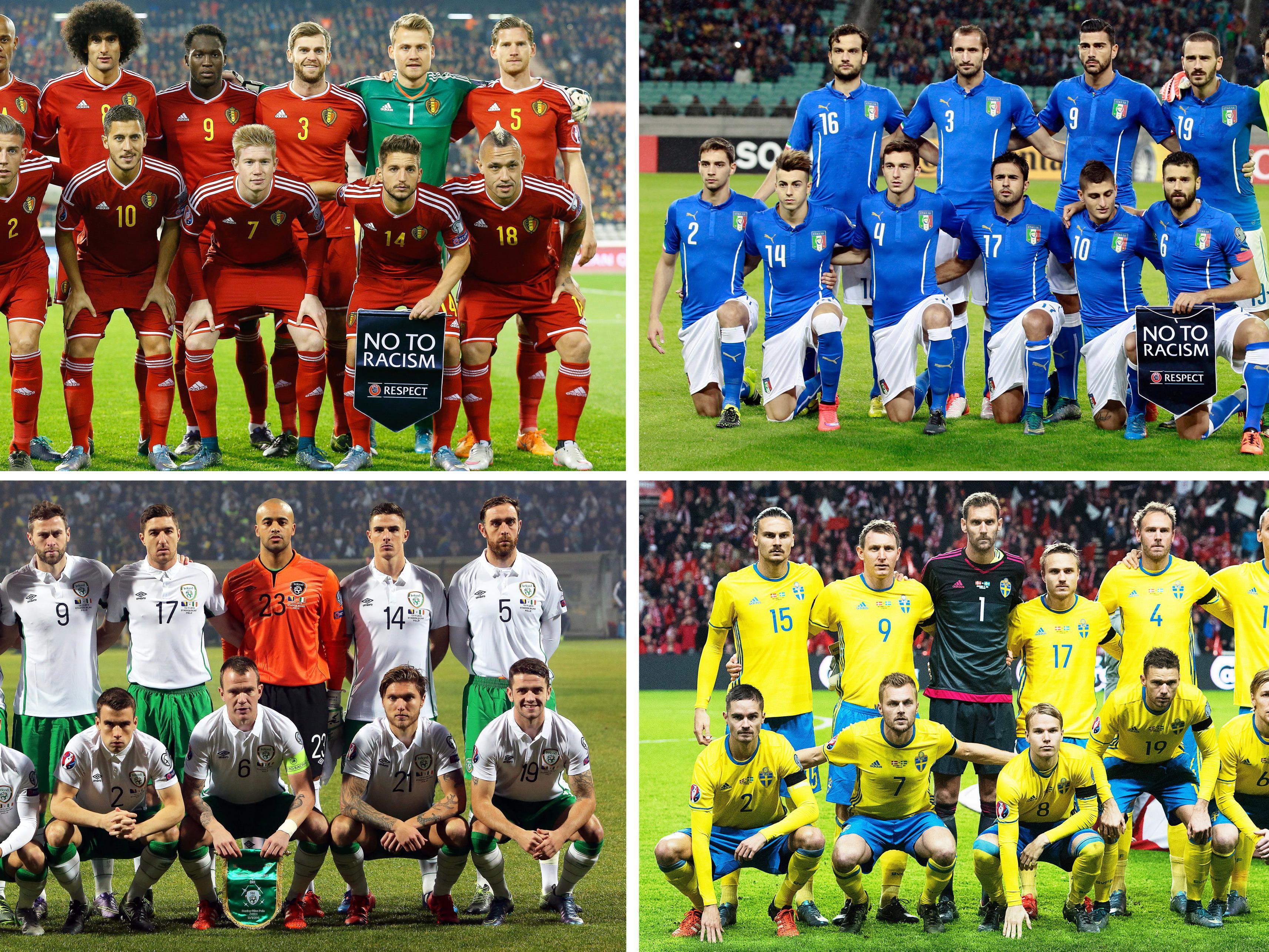 Die Gruppe E der Fußball-EM 2016 in Frankreich.