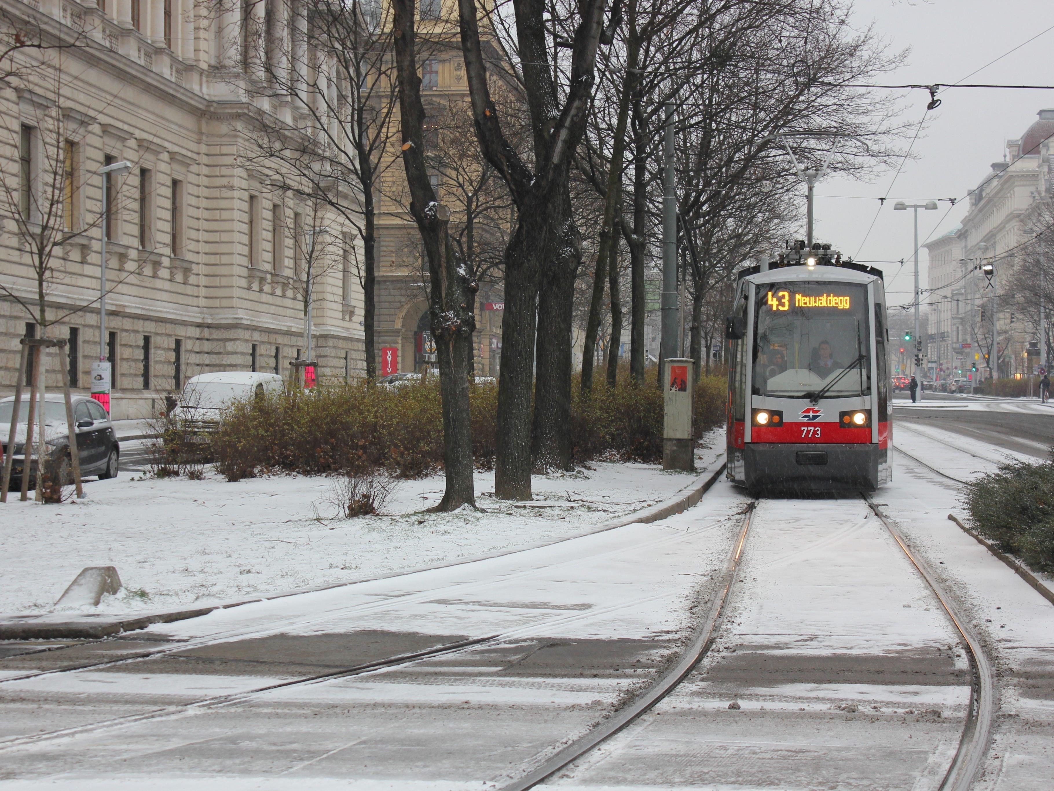 Der Winter hält Einzug in Wien.