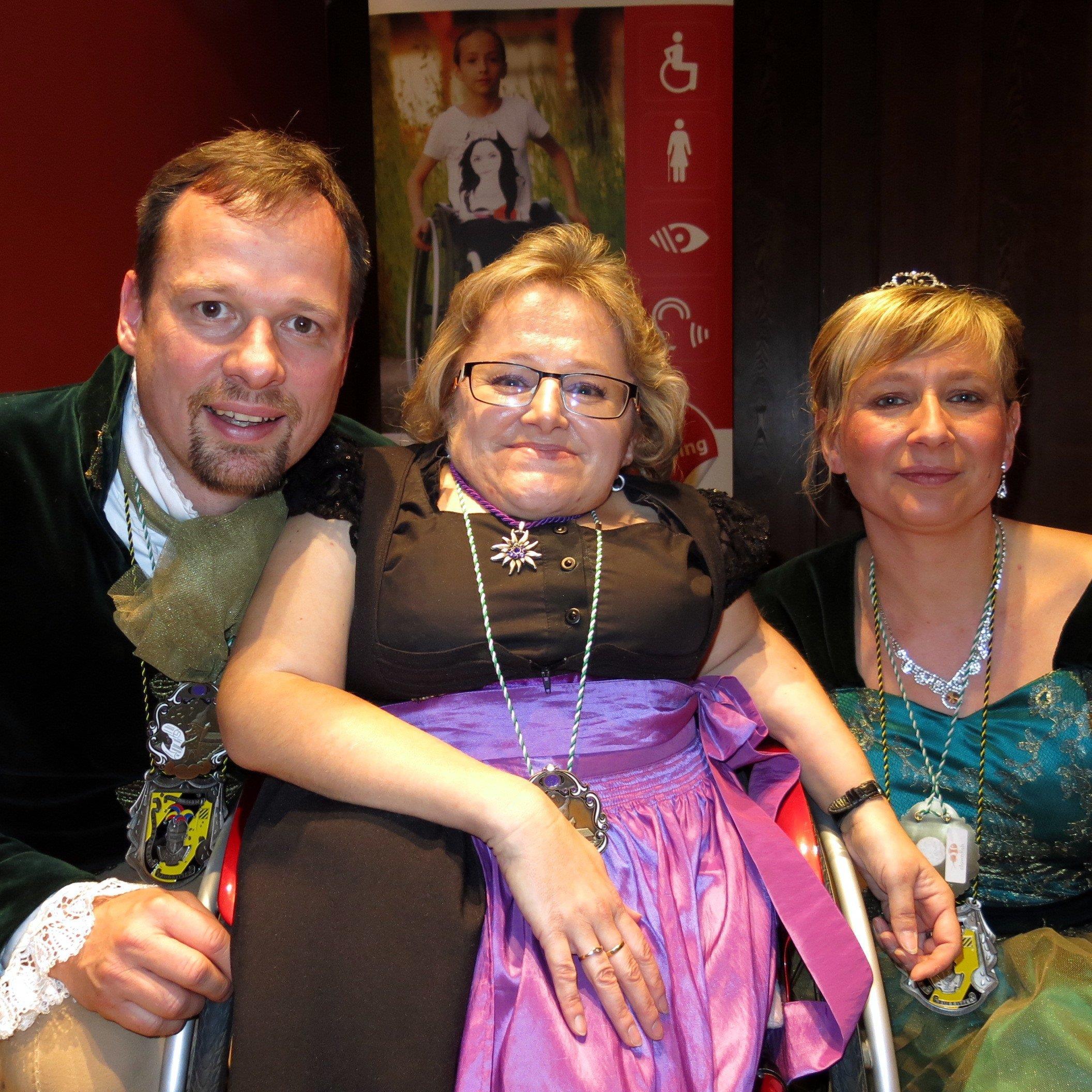 Große Freude bei Karin Stöckler über den Besuch des Hörbranzer Prinzenpaares