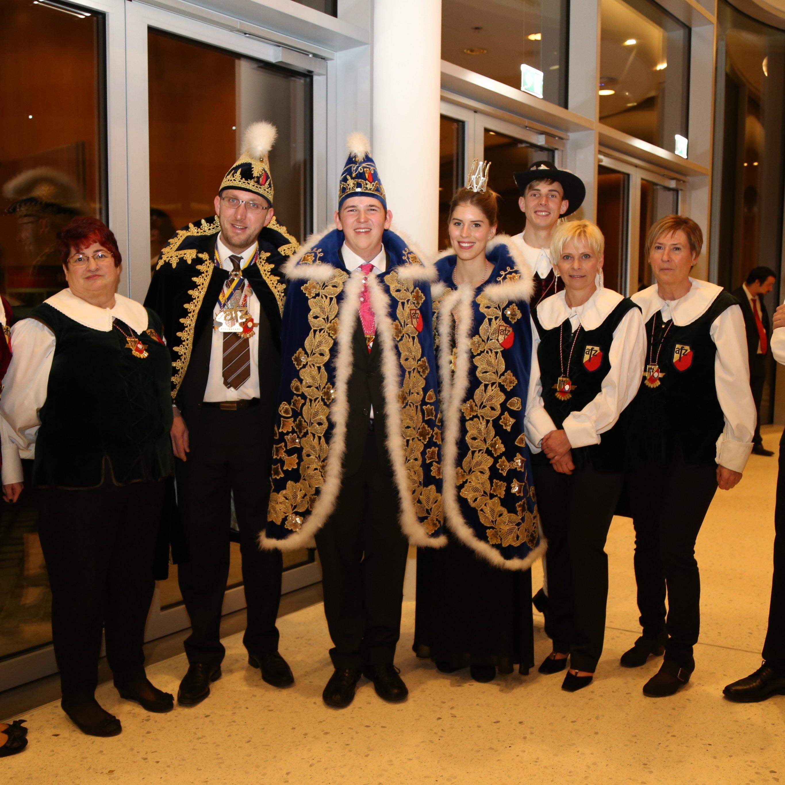 Das AFZ-Präsidium und Prinzenpaar begrüßten die Gäste persönlich.