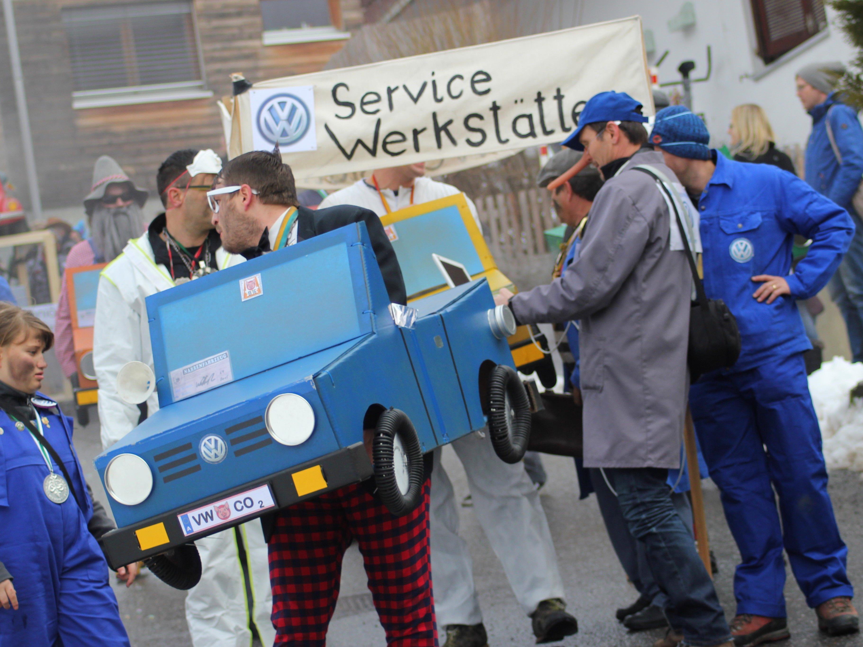 Volkswagen-Skandal beim Rungeliner Umzug.