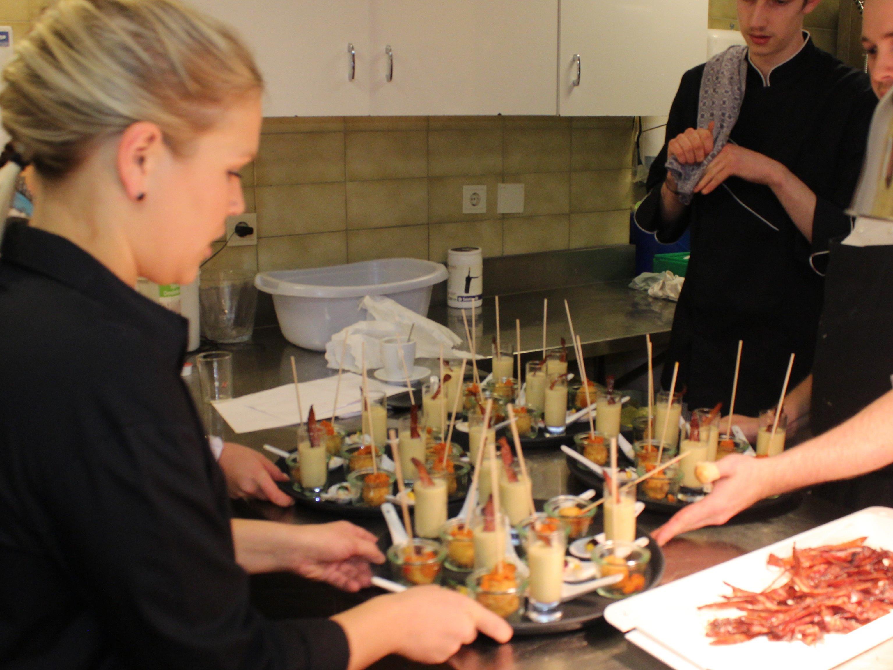Raffinierte Häppchen bei der Neueröffnung des Restaurants im Gasthaus Maria Grün.