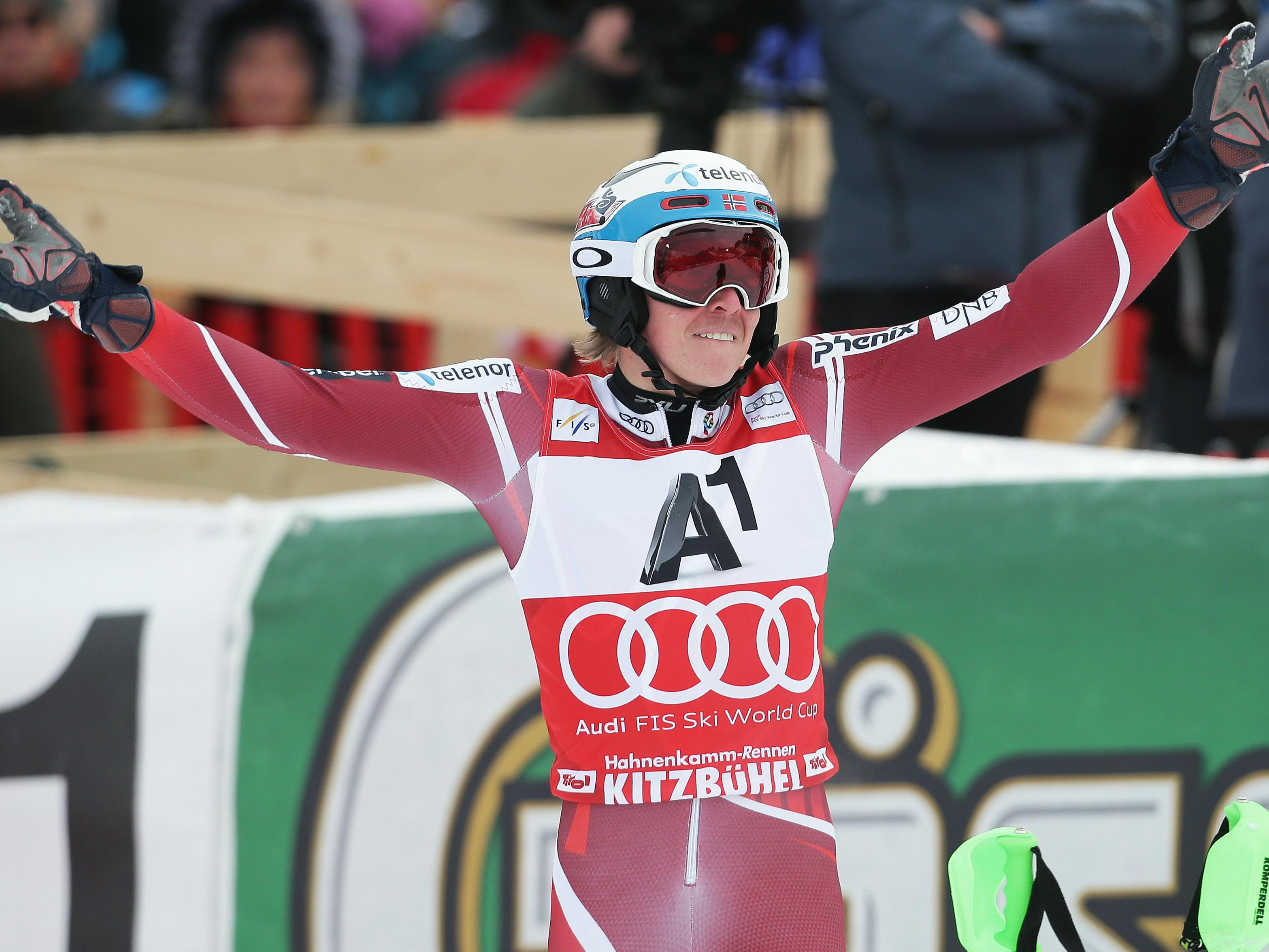 Norweger Kristoffersen triumphiert nach Aufholjagd im Kitzbühel-Slalom.