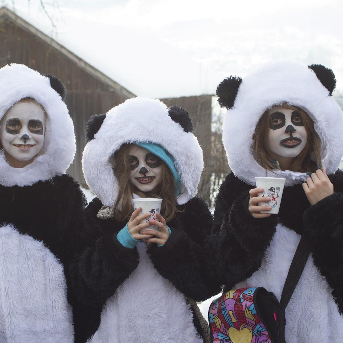 Auch die Pandas waren los