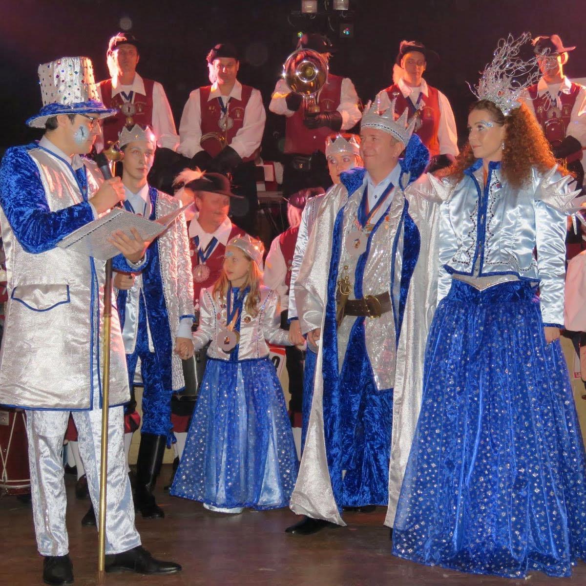 Das Bregenzer Prinzenpaar beim Besuch am Fluhar Ball im Schindlersaal.