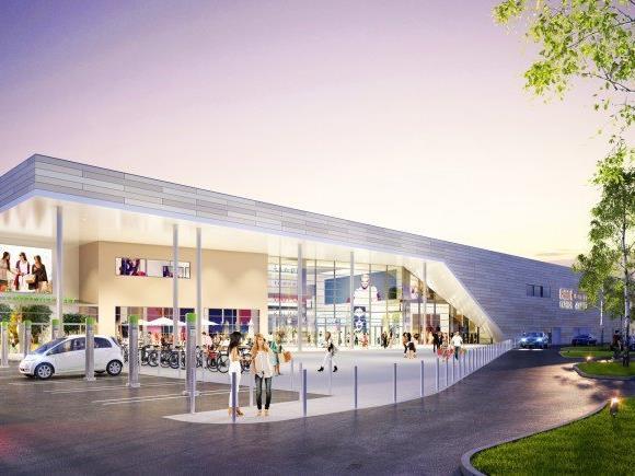 So soll das neue Huma-Einkaufszentrum in Wien-Simmering künftig aussehen