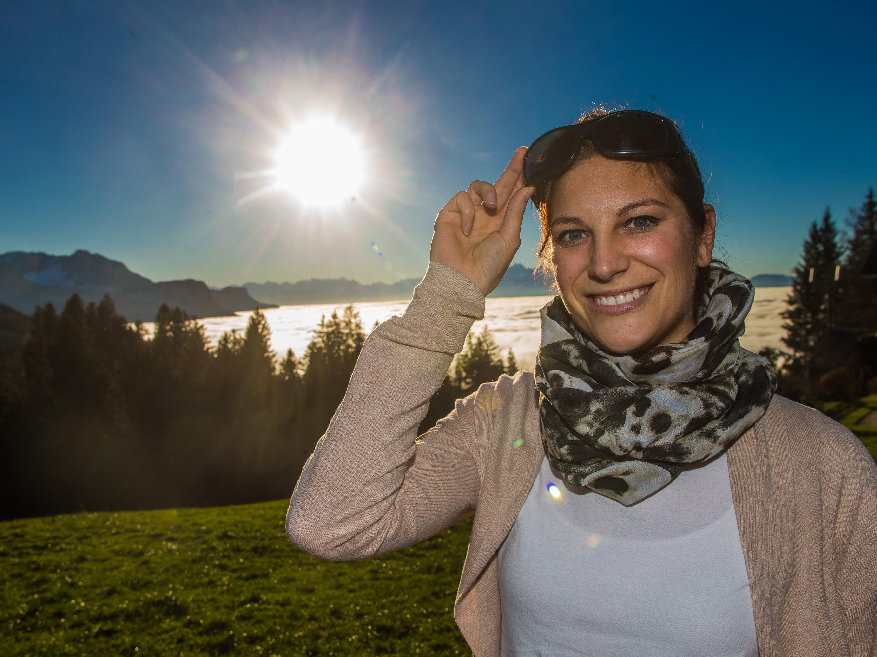 Etwas Sonnenschein ist auch bei Natascha aus Lustenau immer willkommen.