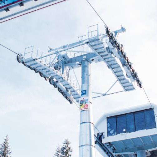Zwei kuppelbare 6-Sessellifte transportierte Gebrüder Weiss für die Doppelmayr Seilbahnen GmbH nach Georgien.