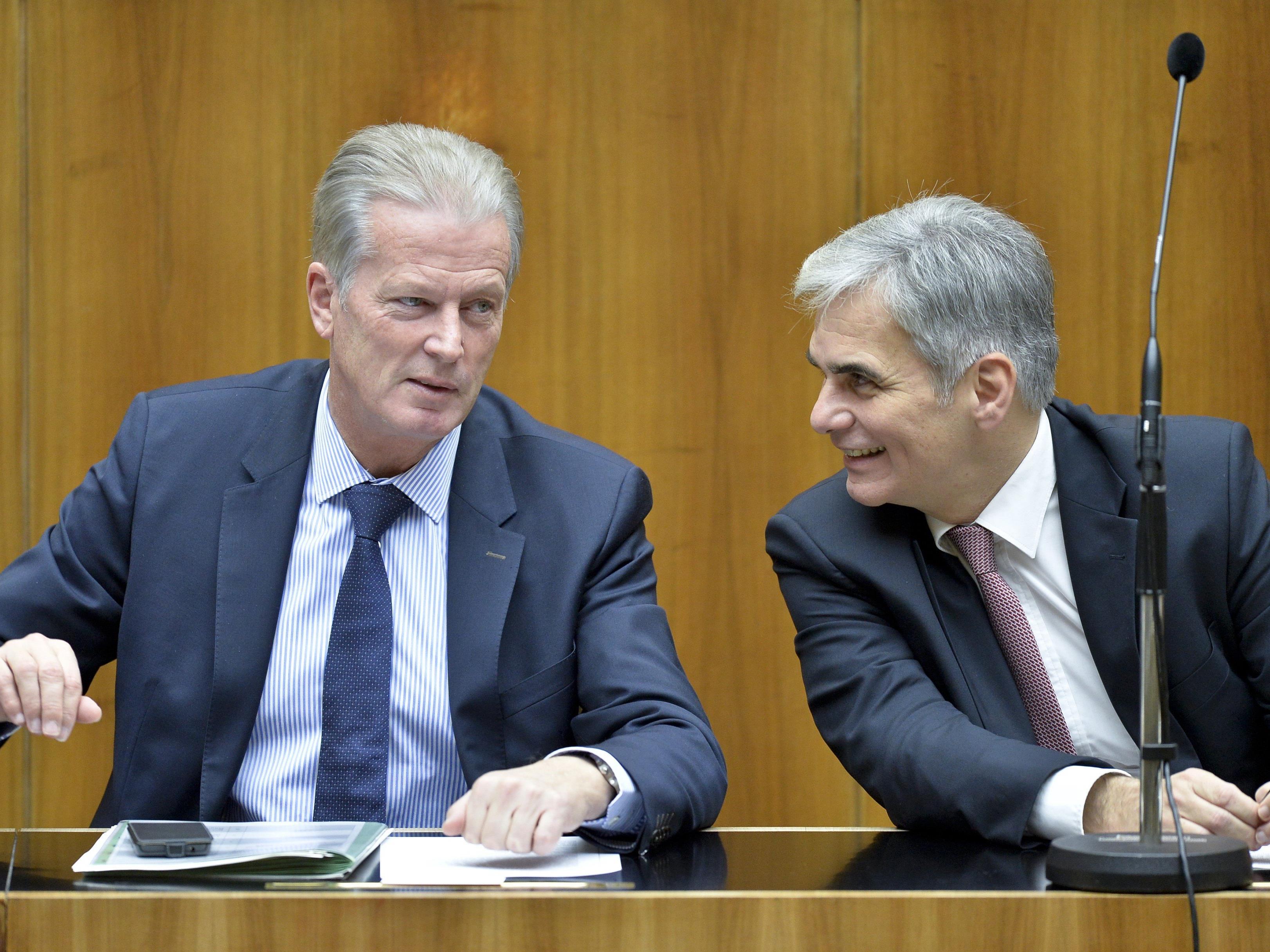 Das Vertrauen in Kanzler und Stellvertreter wächst.