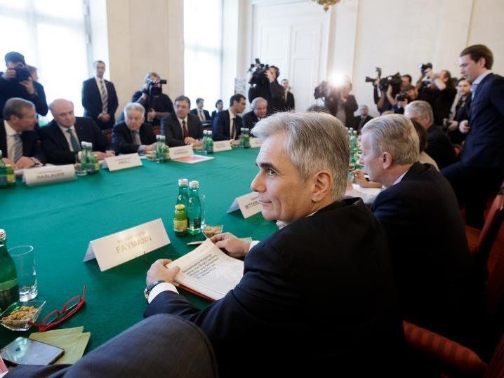 Bundeskanzler Werner Faymann (SPÖ) sprach von einem Richtwert