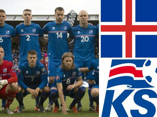 Kader und Teamportrait der isländischen Nationalmannschaft.