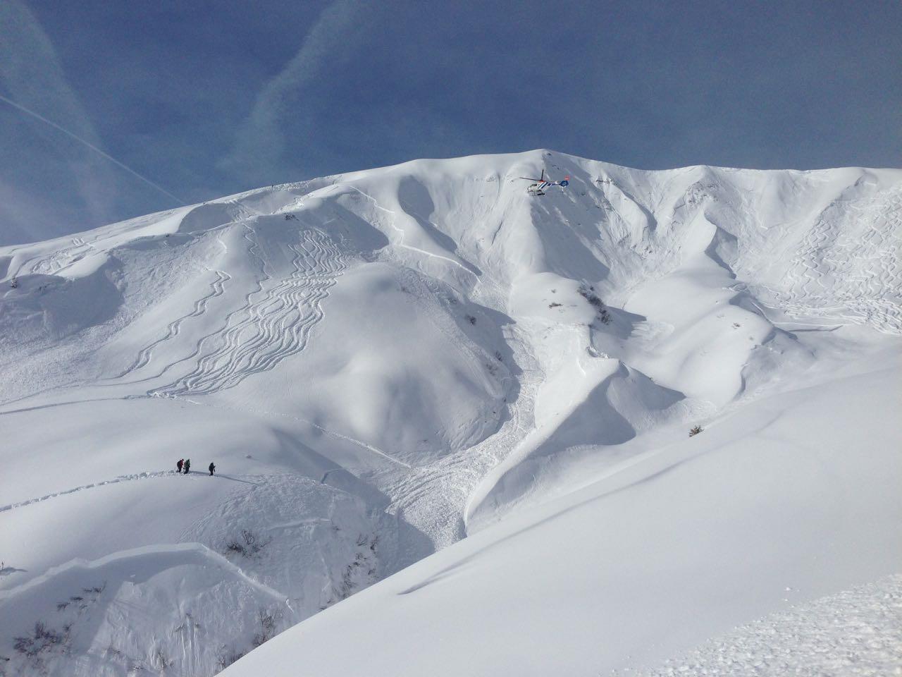 Glimpflich Schneebrettabgang oberhalb von Stuben. (Themenbild)