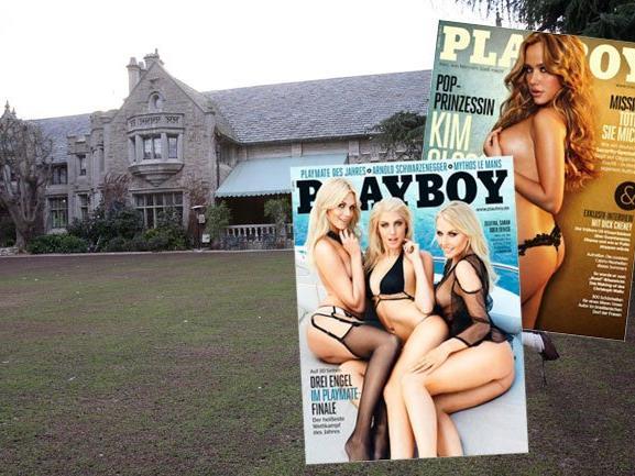 """Das berühmte Anwesen von """"Playboy""""-Gründer Hugh Hefner steht zum Verkauf."""