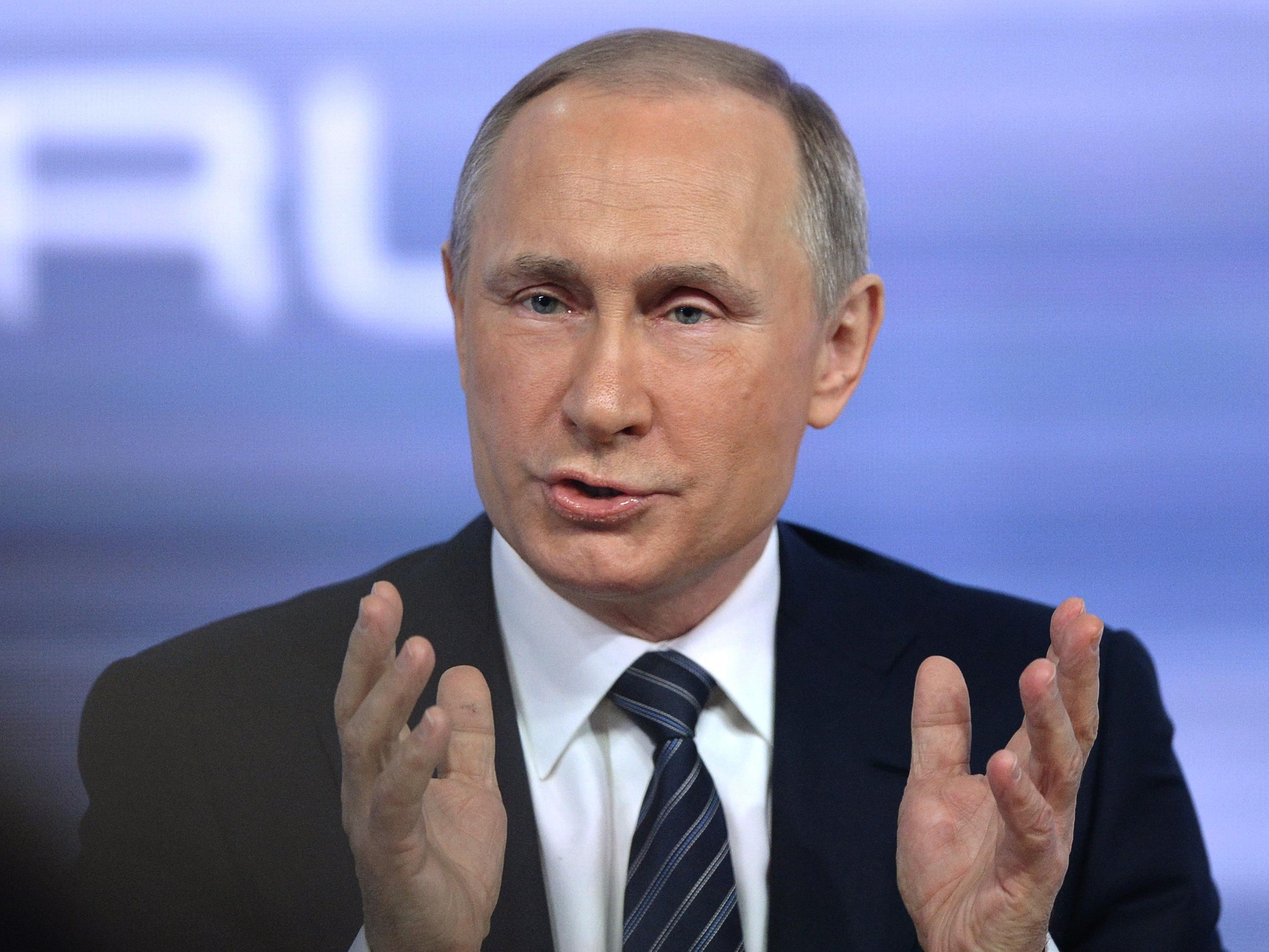 Kritik an seinem Vorgehen wies Putin zurück.