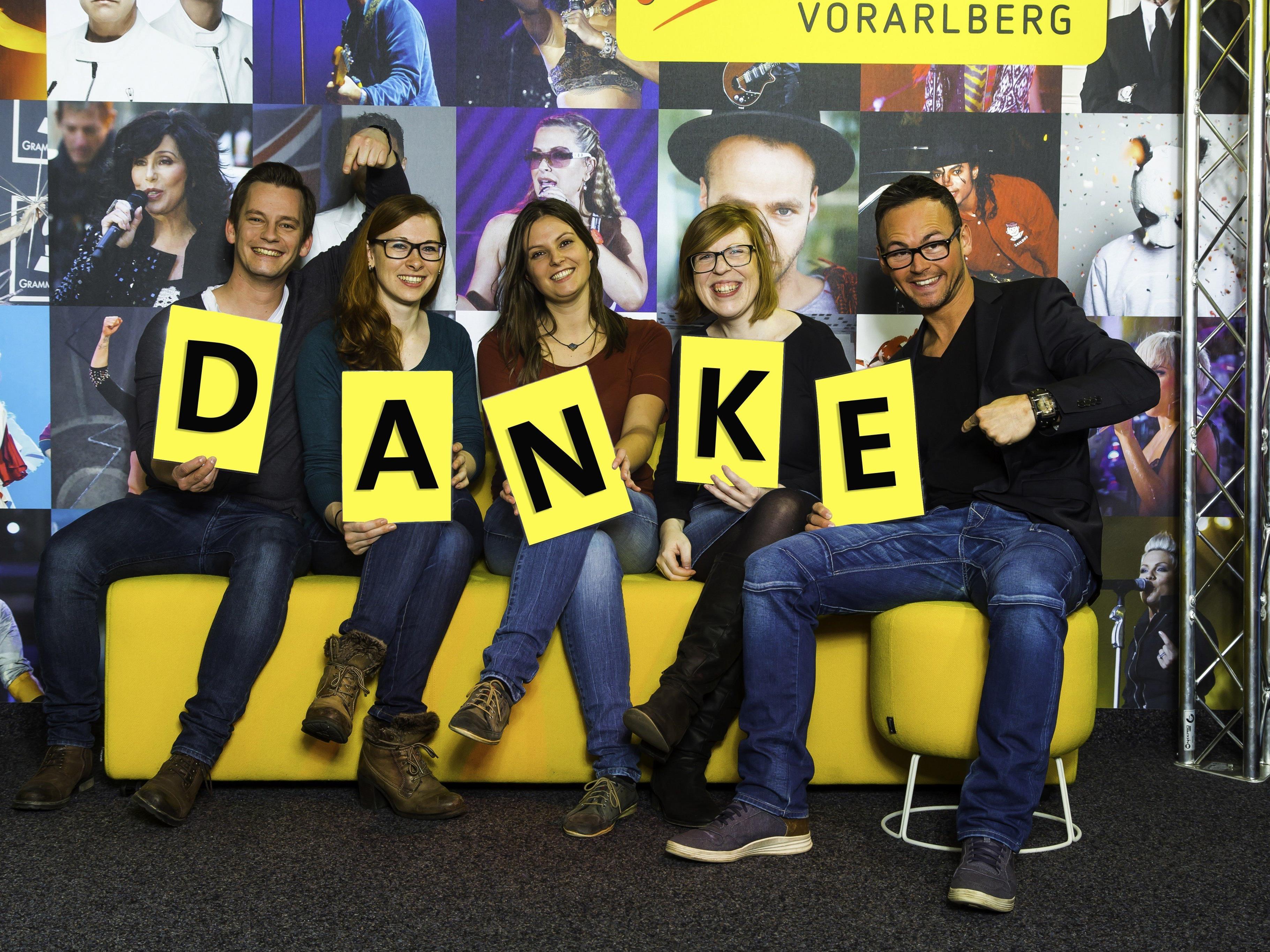 """Erfolgreiches Jahr: Das Team von Antenne Vorarlberg sagt """"Danke!"""""""