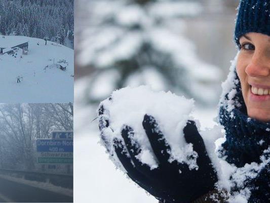 Der Winter hat in Vorarlberg Einzug gehalten.