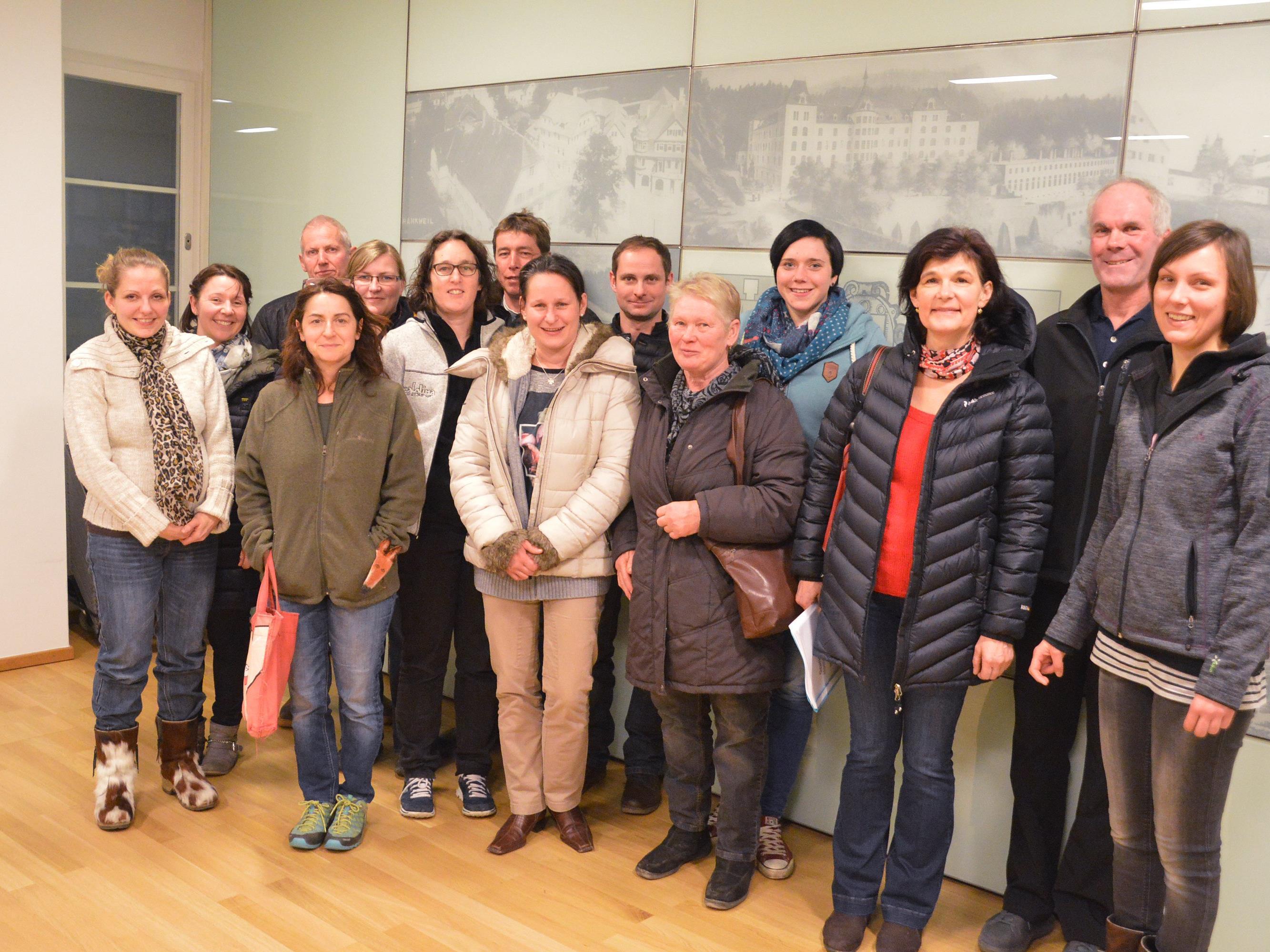 Die interessierten Teilnehmer des Homöopathiekurses.
