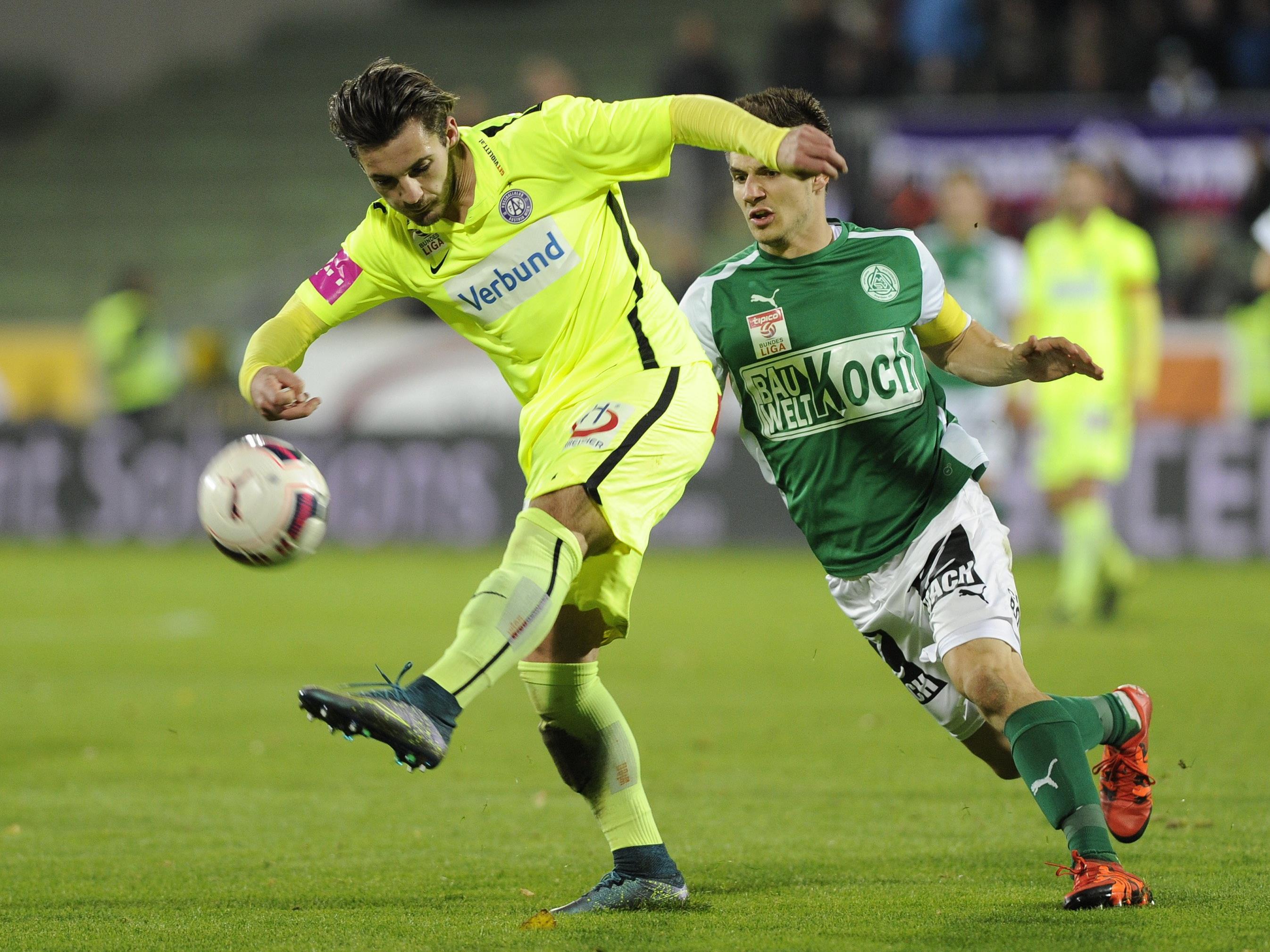 Austria Wien empfängt daheim den SV Mattersburg.