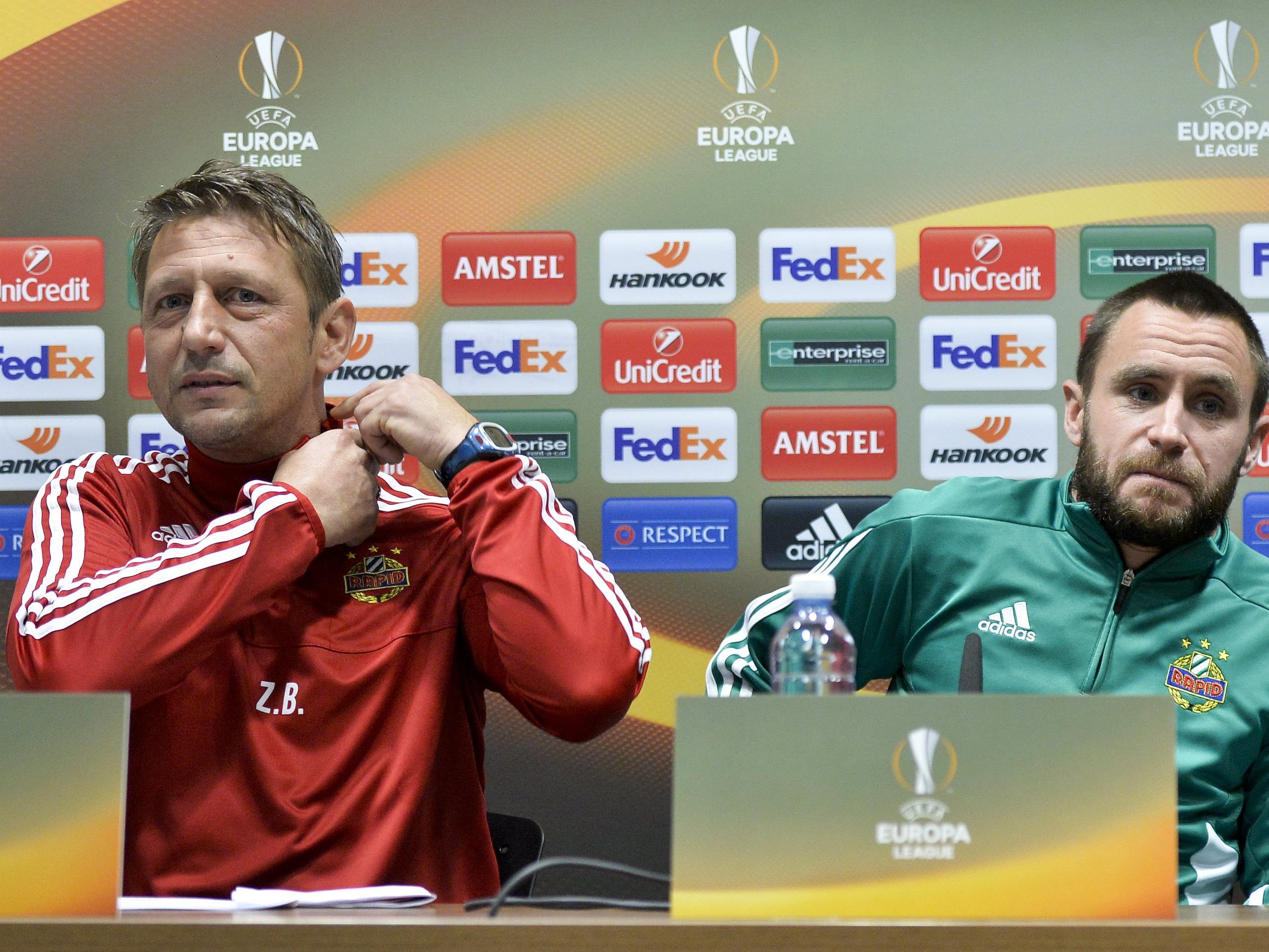 Rapid-Trainer und Rapid-Kapitän: Zoran Barišić und Steffen Hofmann.