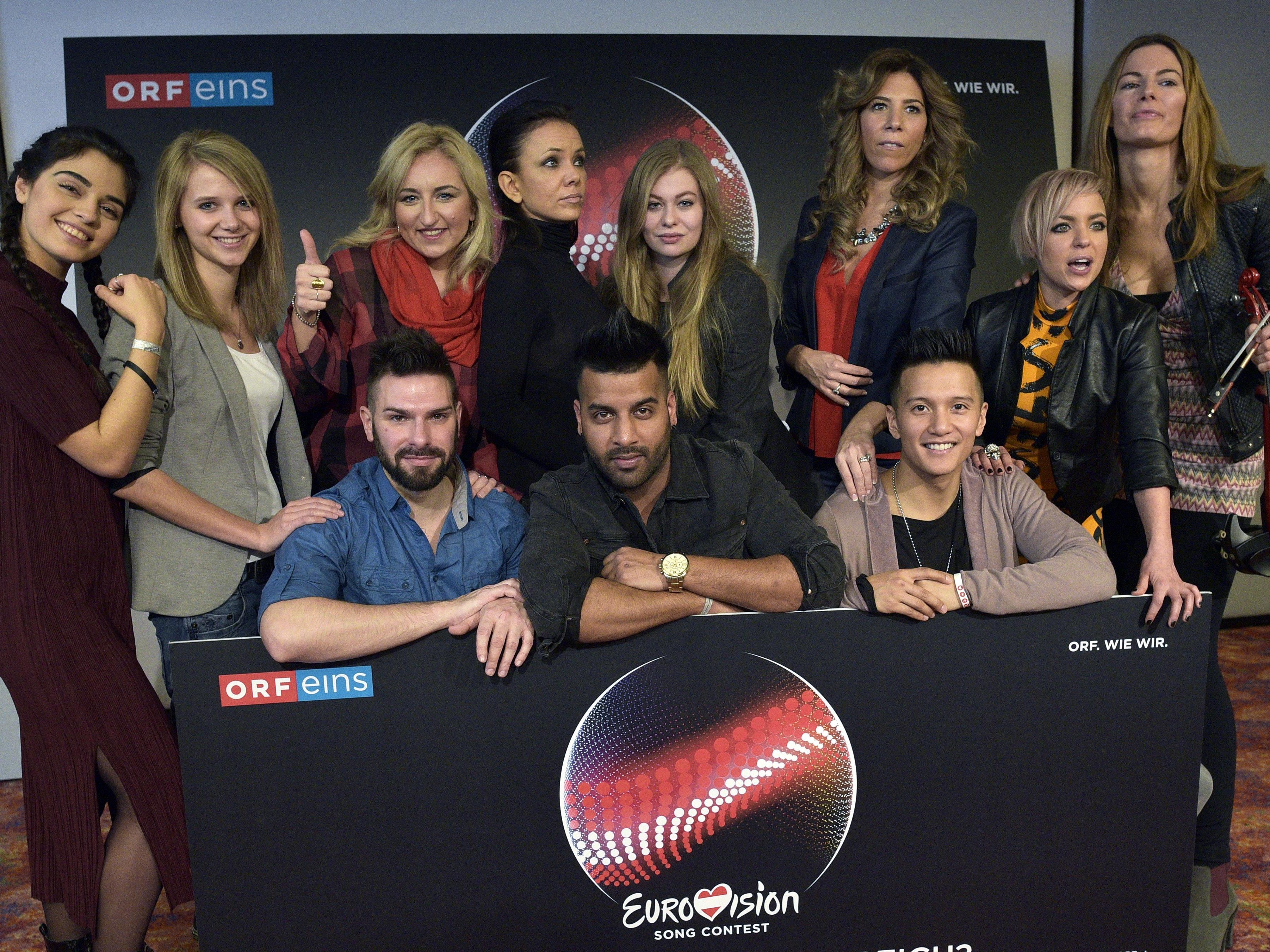 Wer wird Österreich beim Song Contest in Stockholm vertreten?