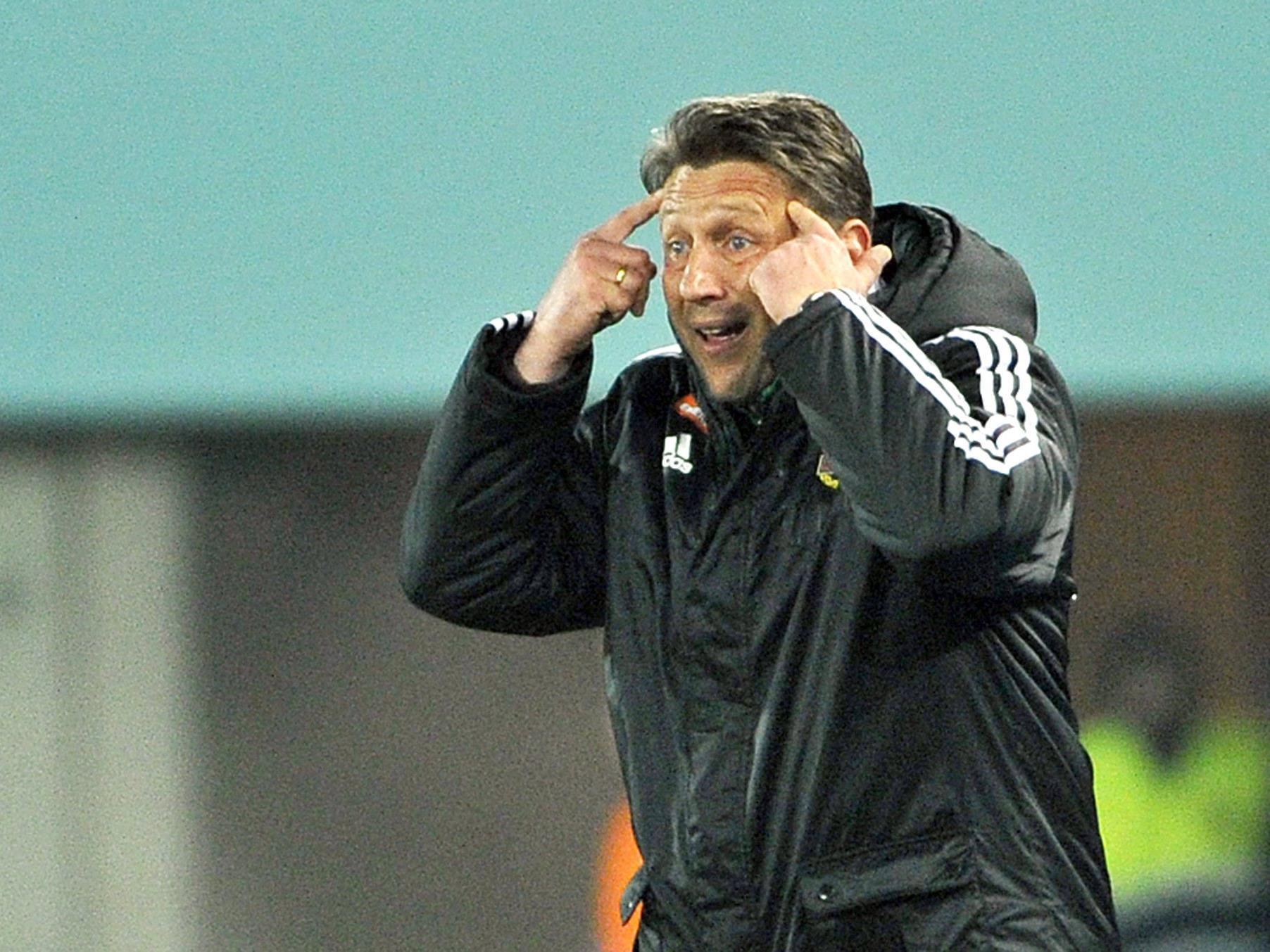 Zoran Barišić ärgert sich über das grün-weiße Cup-Aus.