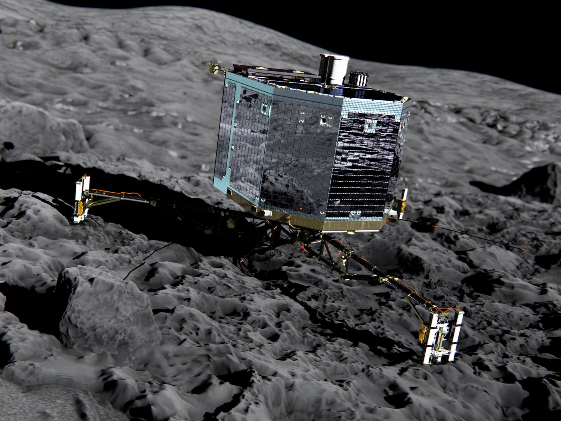 touchdown! rosettas philae probe lands on comet - HD 2000×1333