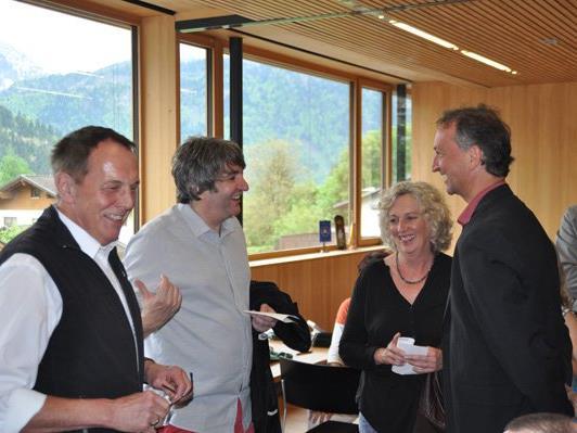 Besucher am Gesundheitstag 2015 in Ludesch: v.l. Dr. Zerlauth(Thüringen), BM Tinkhauser(Bludesch)LR Wiesflecker, BM Lauermann(Ludesch).