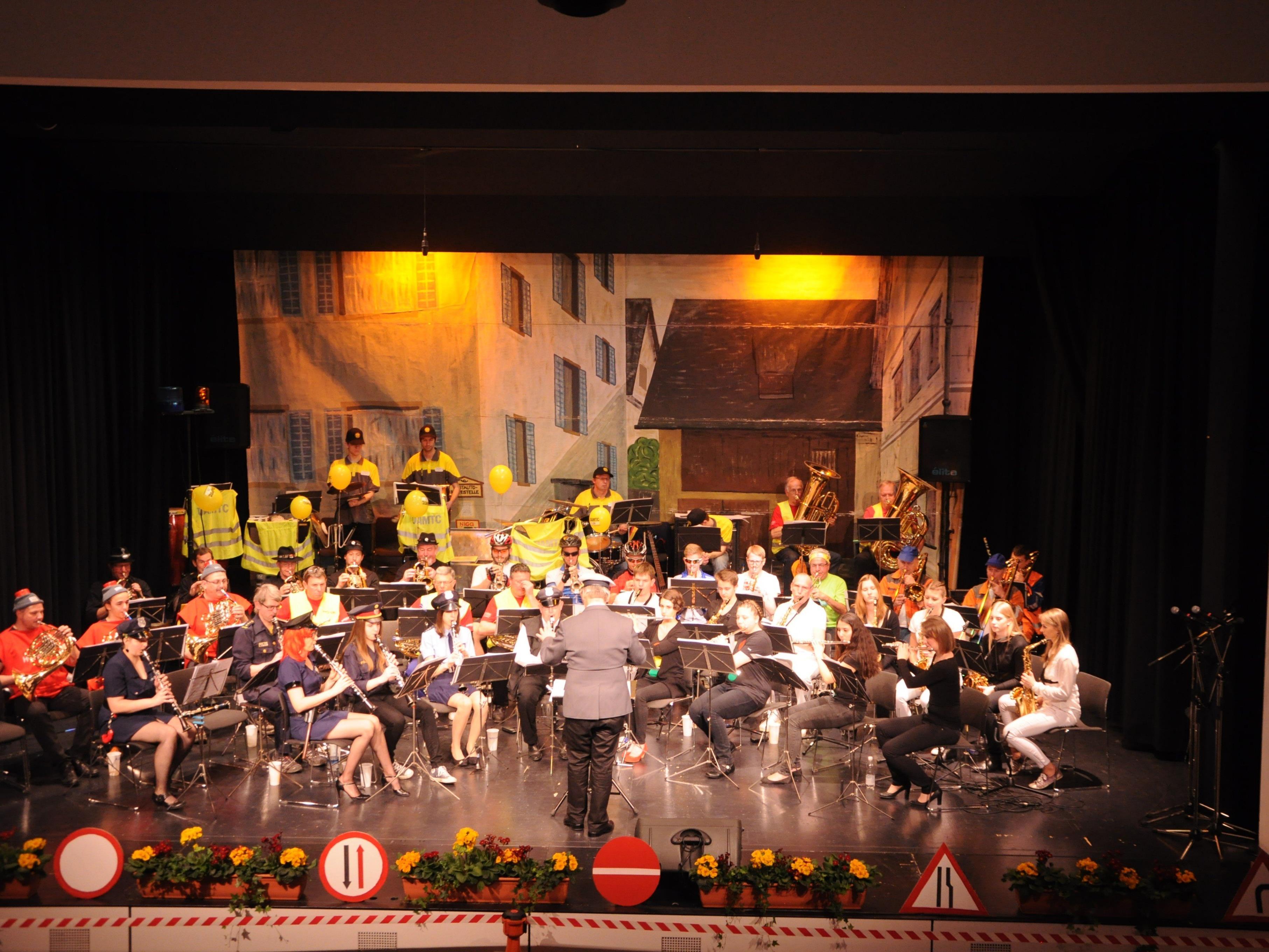 Die Bürgermusik Rankweil lud zur Brennnessel 2016 in den Vinomnasaal
