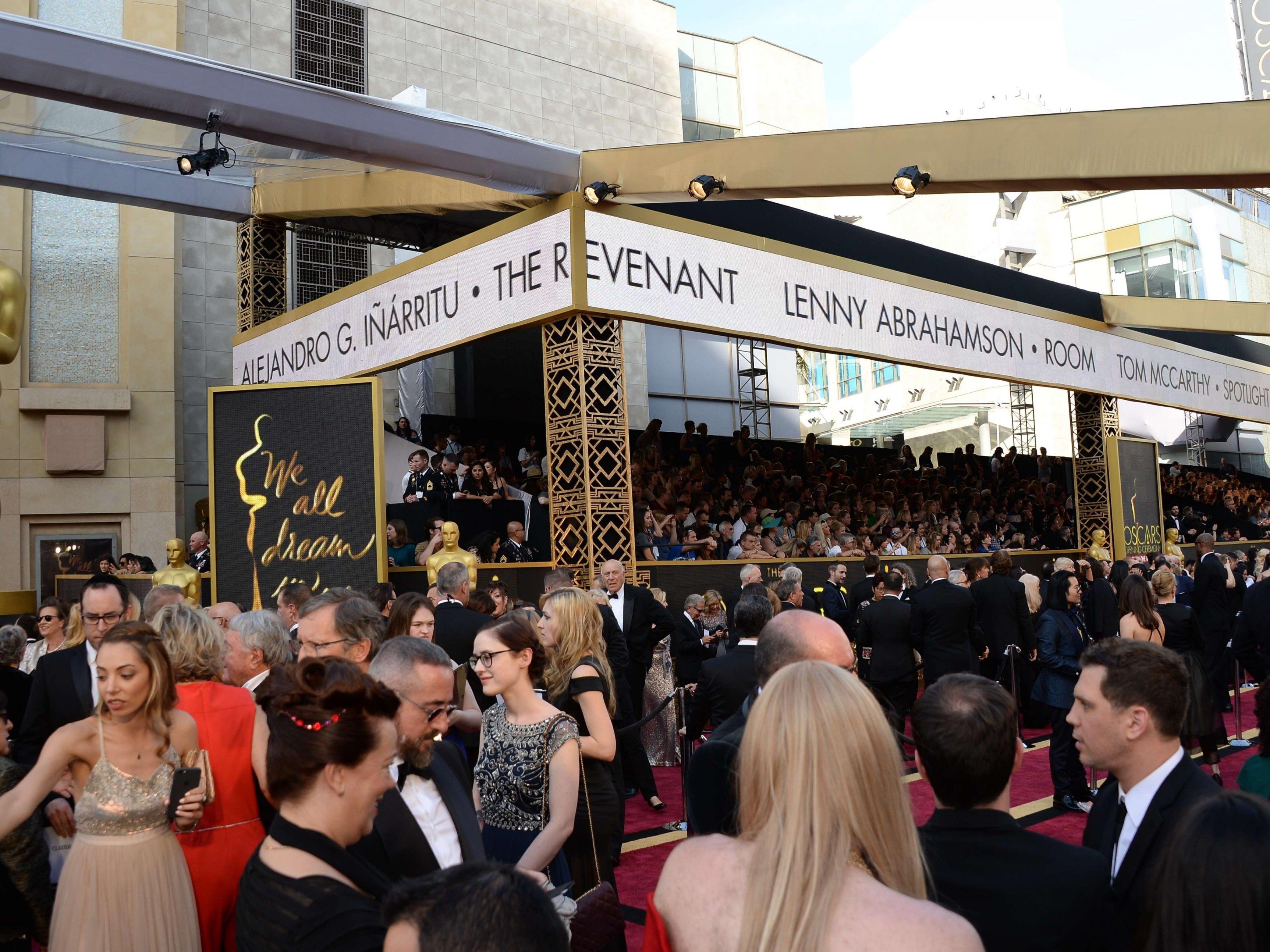 Demonstration am Rande der Oscars