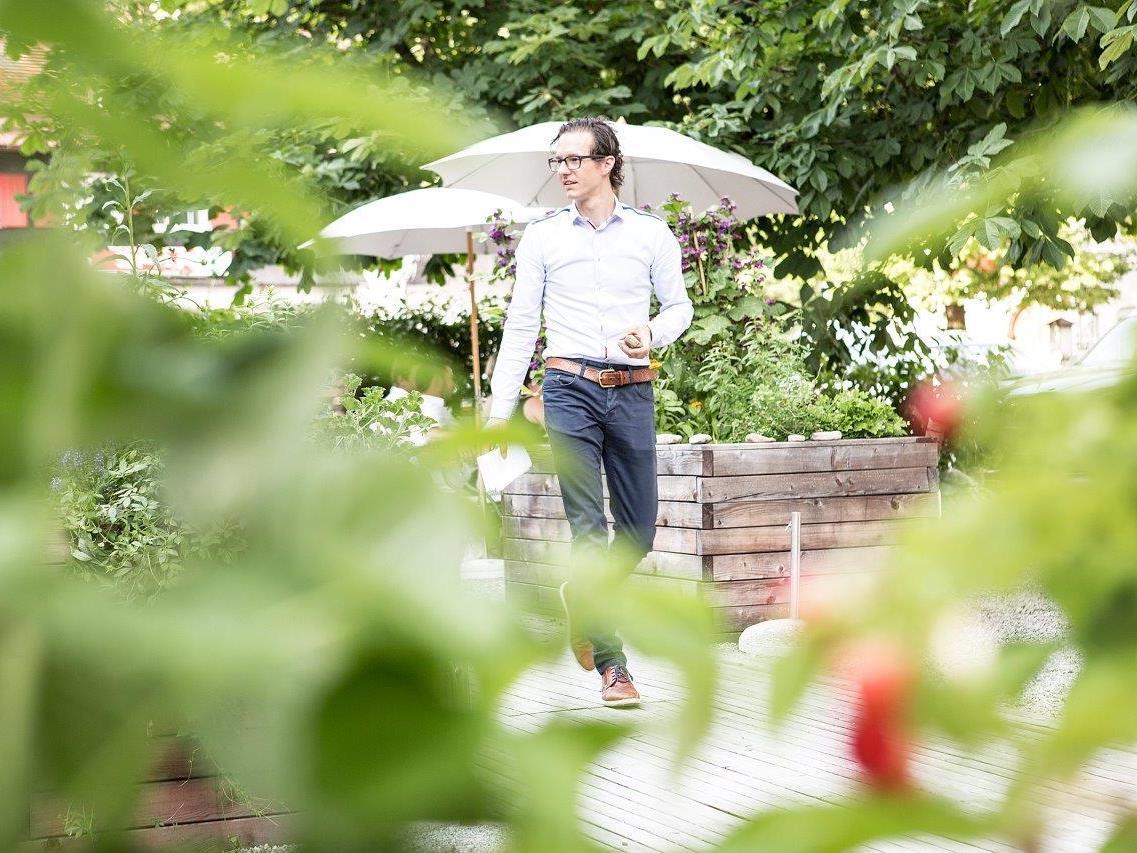 VOL.AT FORUM: Referent Emanuel Moosbrugger vom Biohotel Schwanen in Bizau