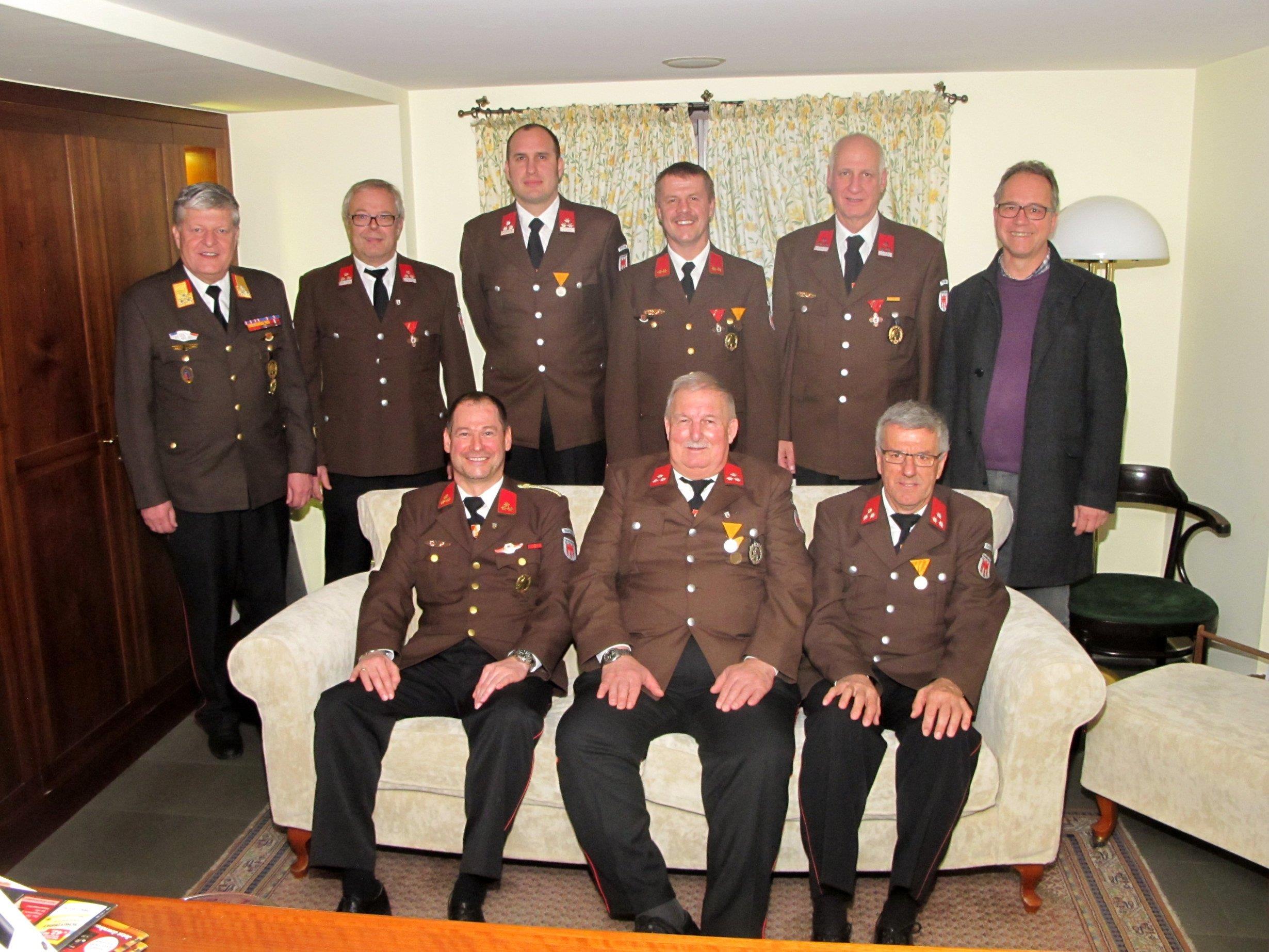 Zahlreiche Ehrungen gab es bei der JHV der Ortsfeuerwehr Röthis.