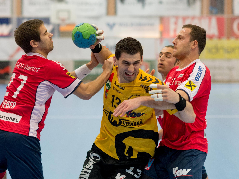 Ein echter Klassiker im Handball - Das Ländle-Derby zwischen Hard und Bregenz.