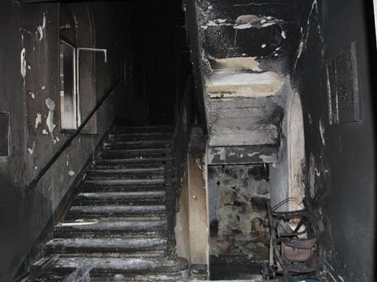 Die Folgen des verheerenden Feuers in Wien-Favoriten.