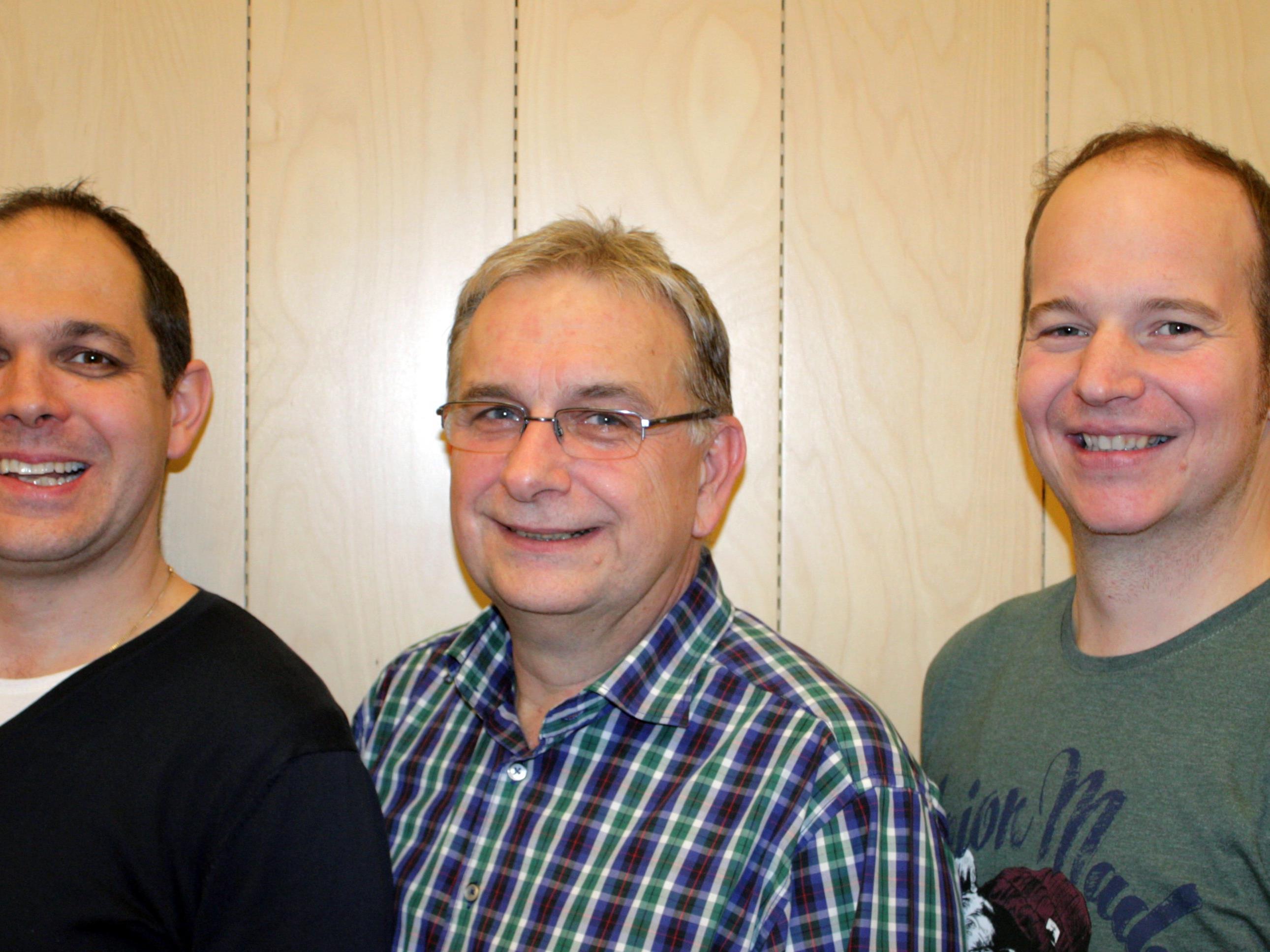 Christoph Gmeiner, Karl-Heinz Schlachter und Joachim Flatz vom MV Concordia (v.l.)