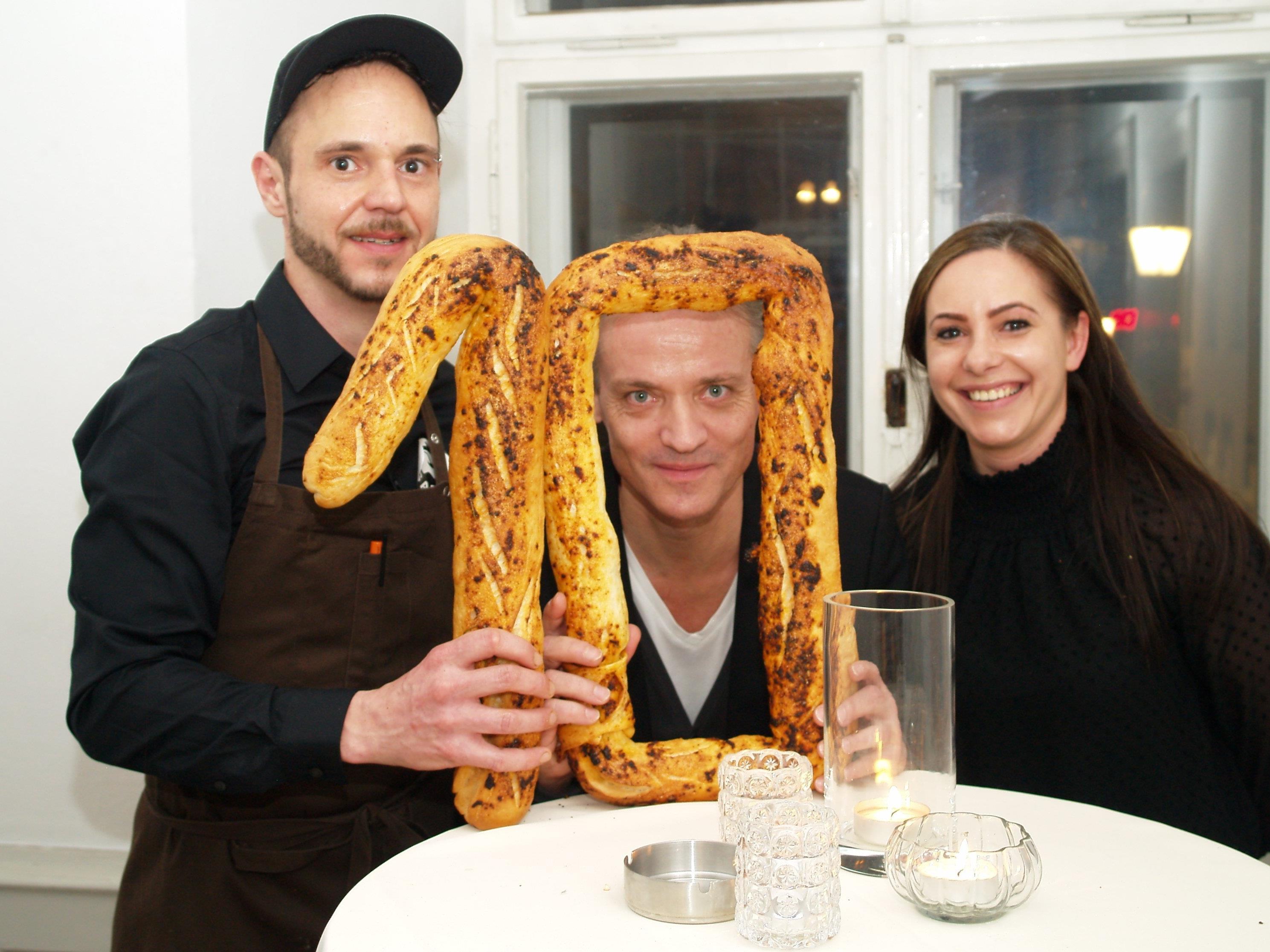 Gastronom Reinhard Rauch mit Küchenchef Andreas Zeindlinger und Serviceleiterin Simone Lehninger